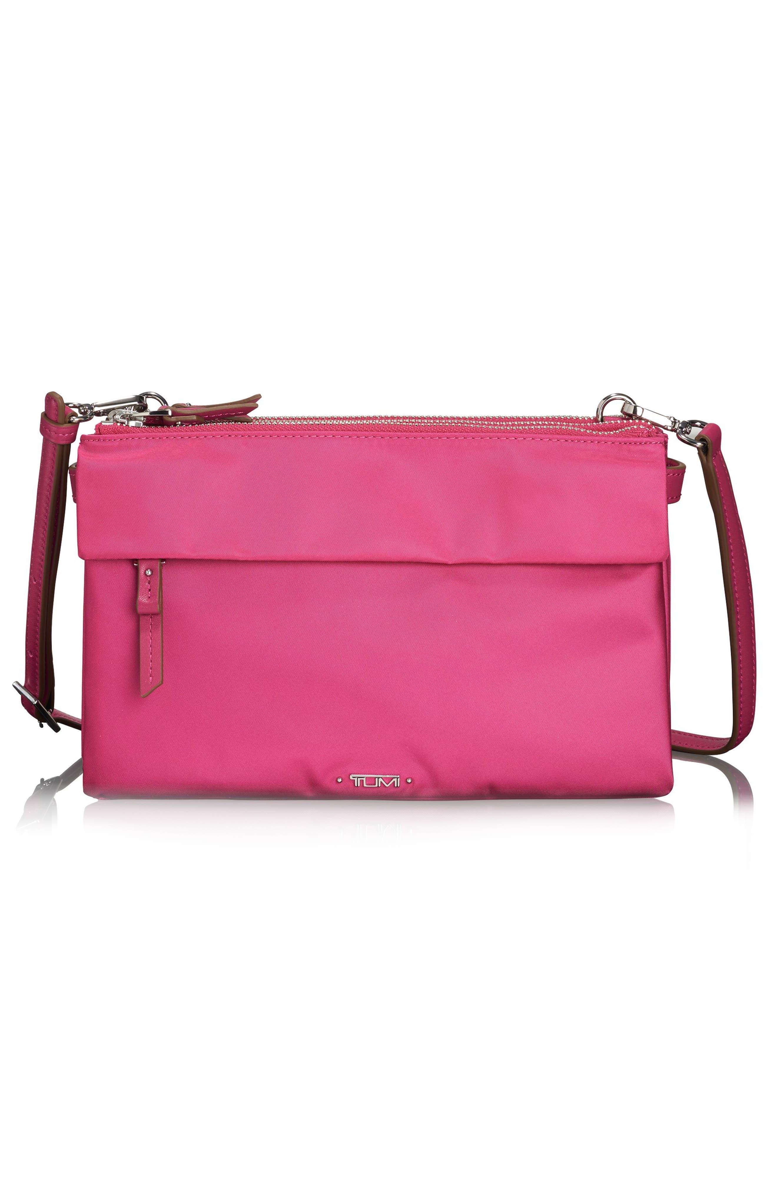 Voyageur - Tristen Nylon Crossbody Bag,                         Main,                         color, Pink