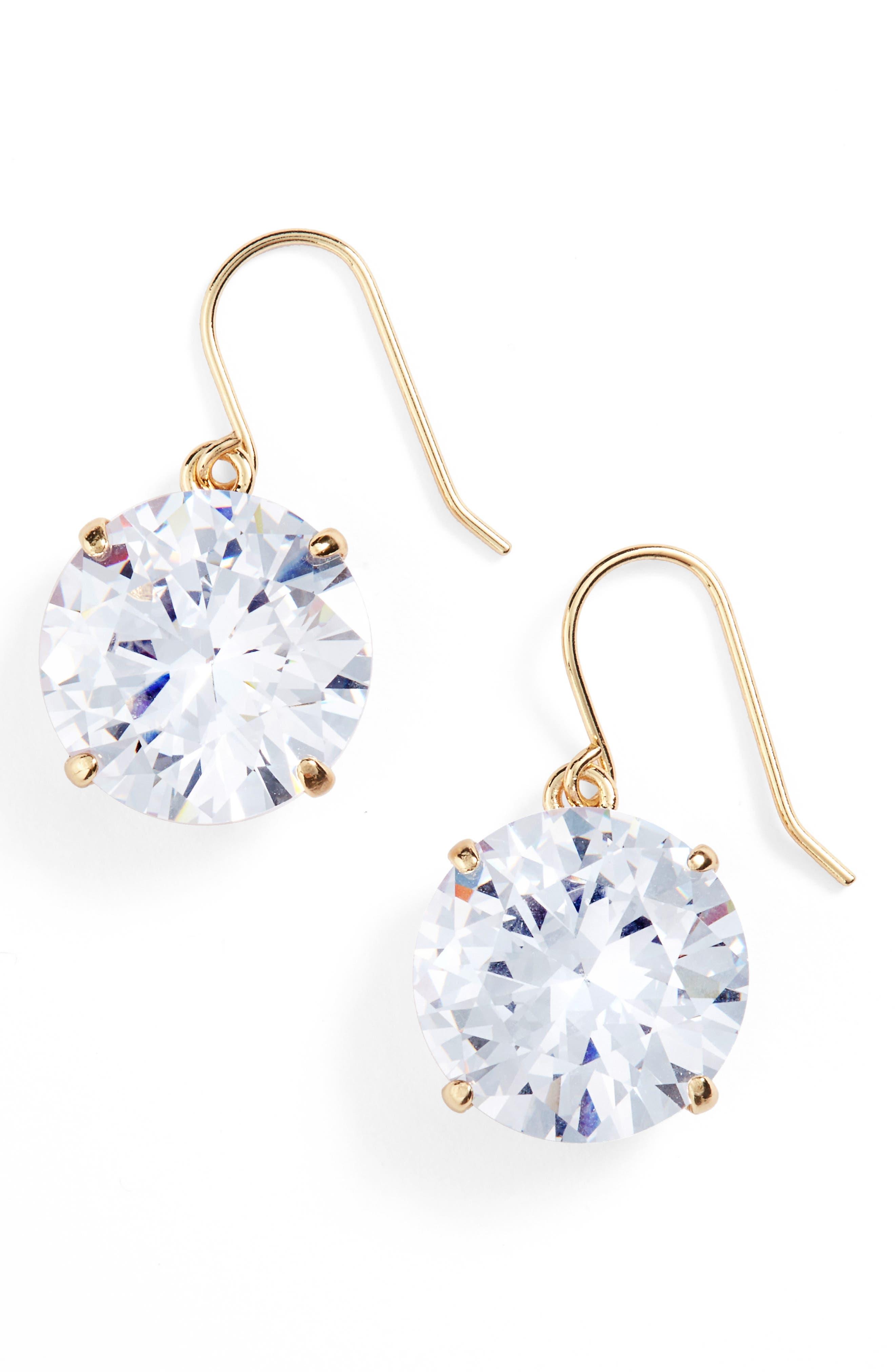 'shine on' drop earrings,                             Main thumbnail 1, color,                             Clear