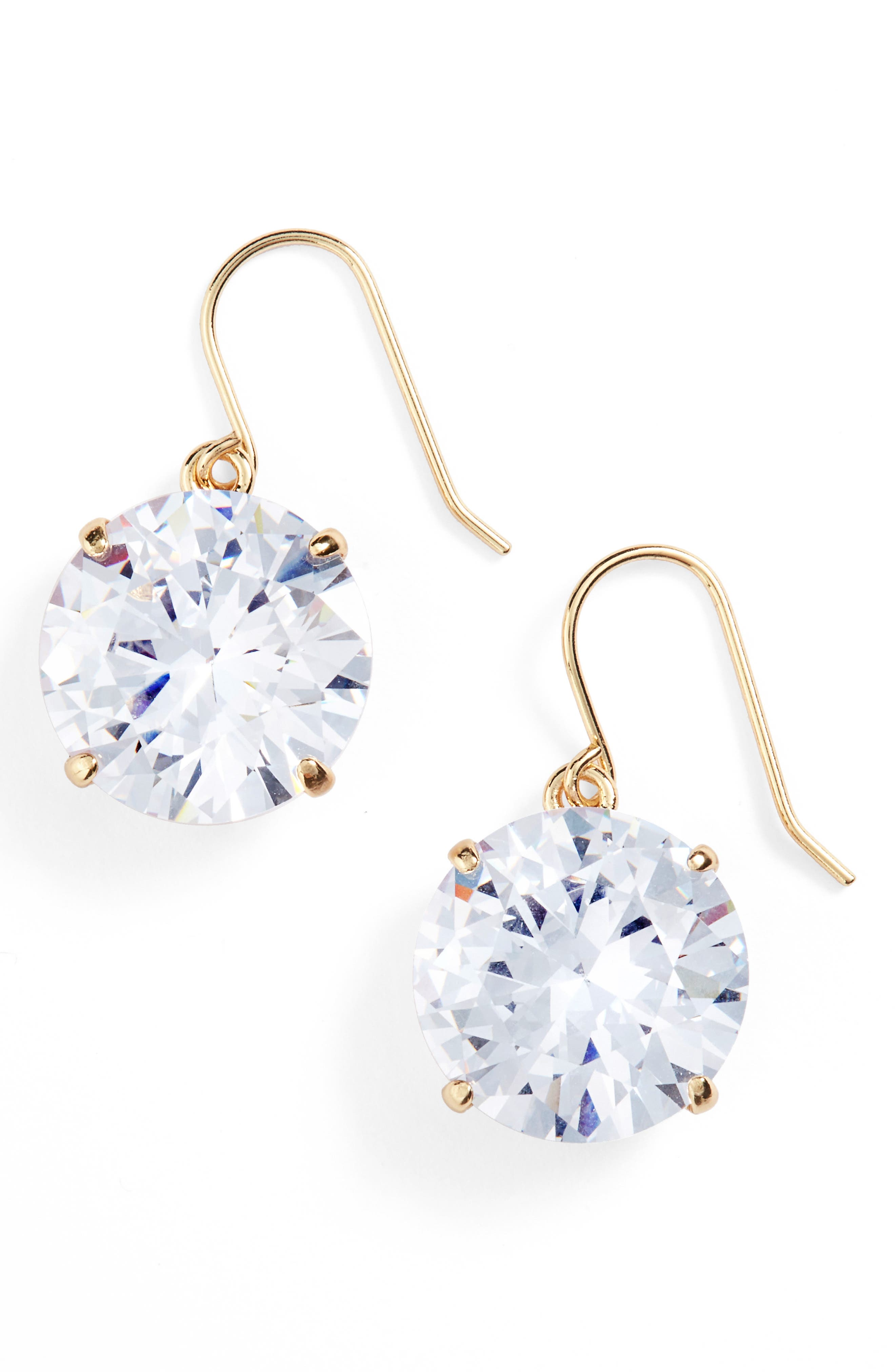 'shine on' drop earrings,                         Main,                         color, Clear