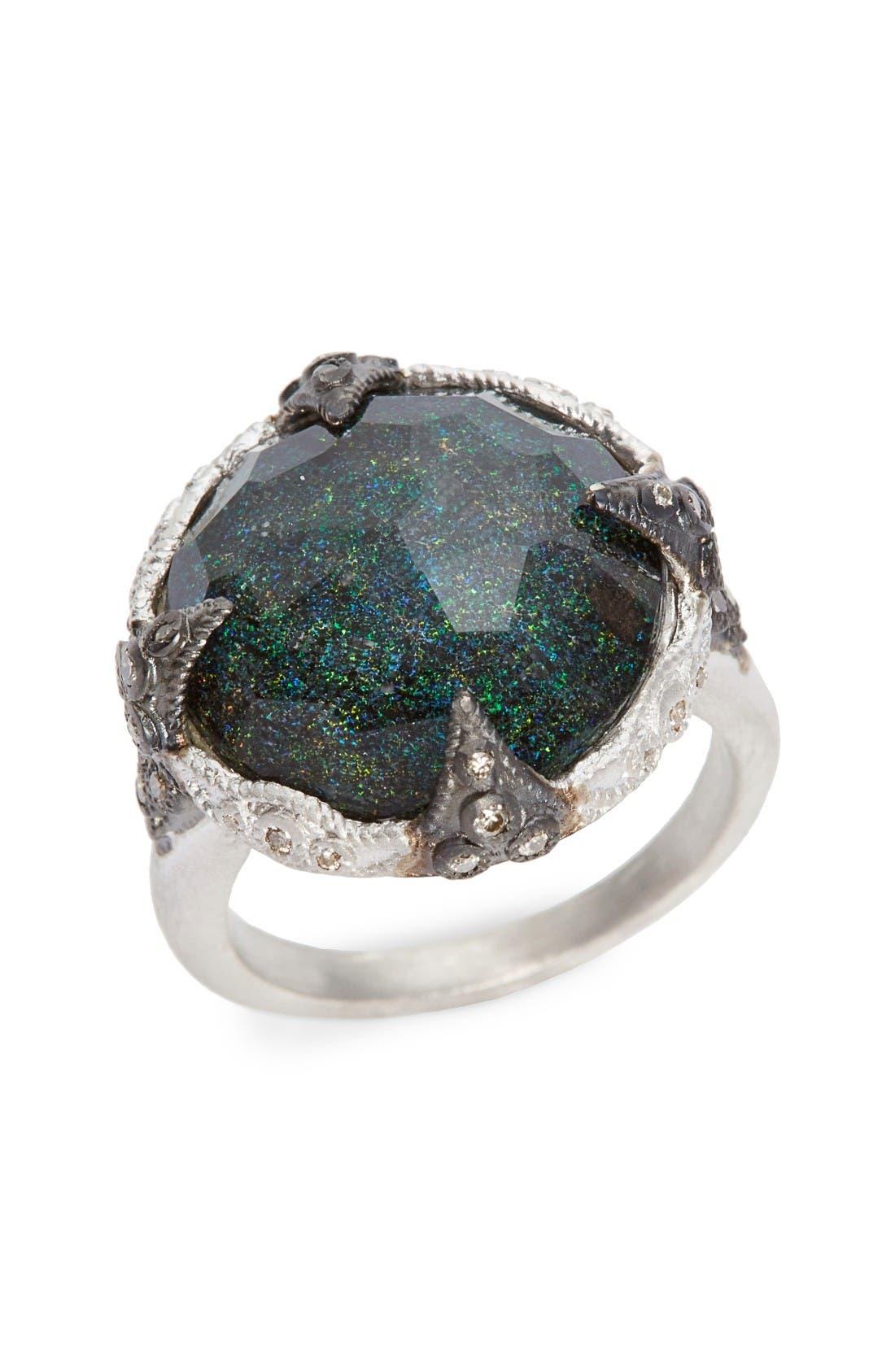 ARMENTA New World Black Opal Crivelli Ring