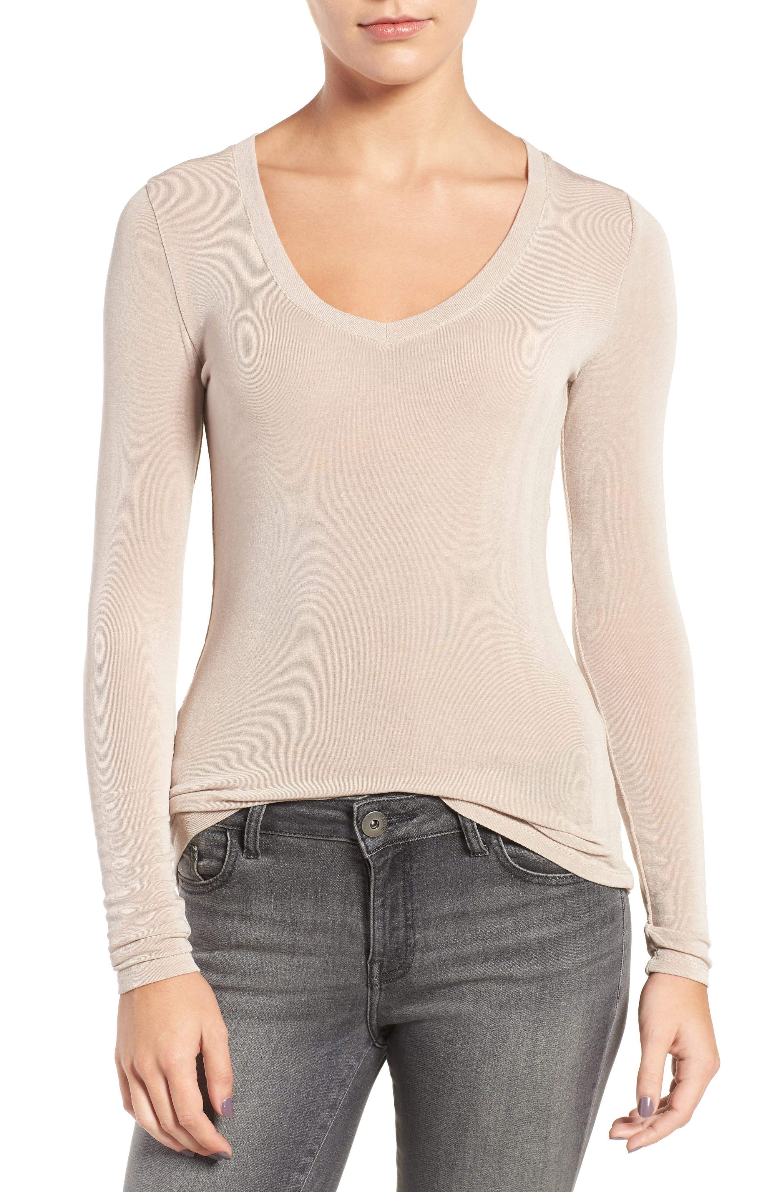 Sheer Tee,                         Main,                         color, Tan Memoir