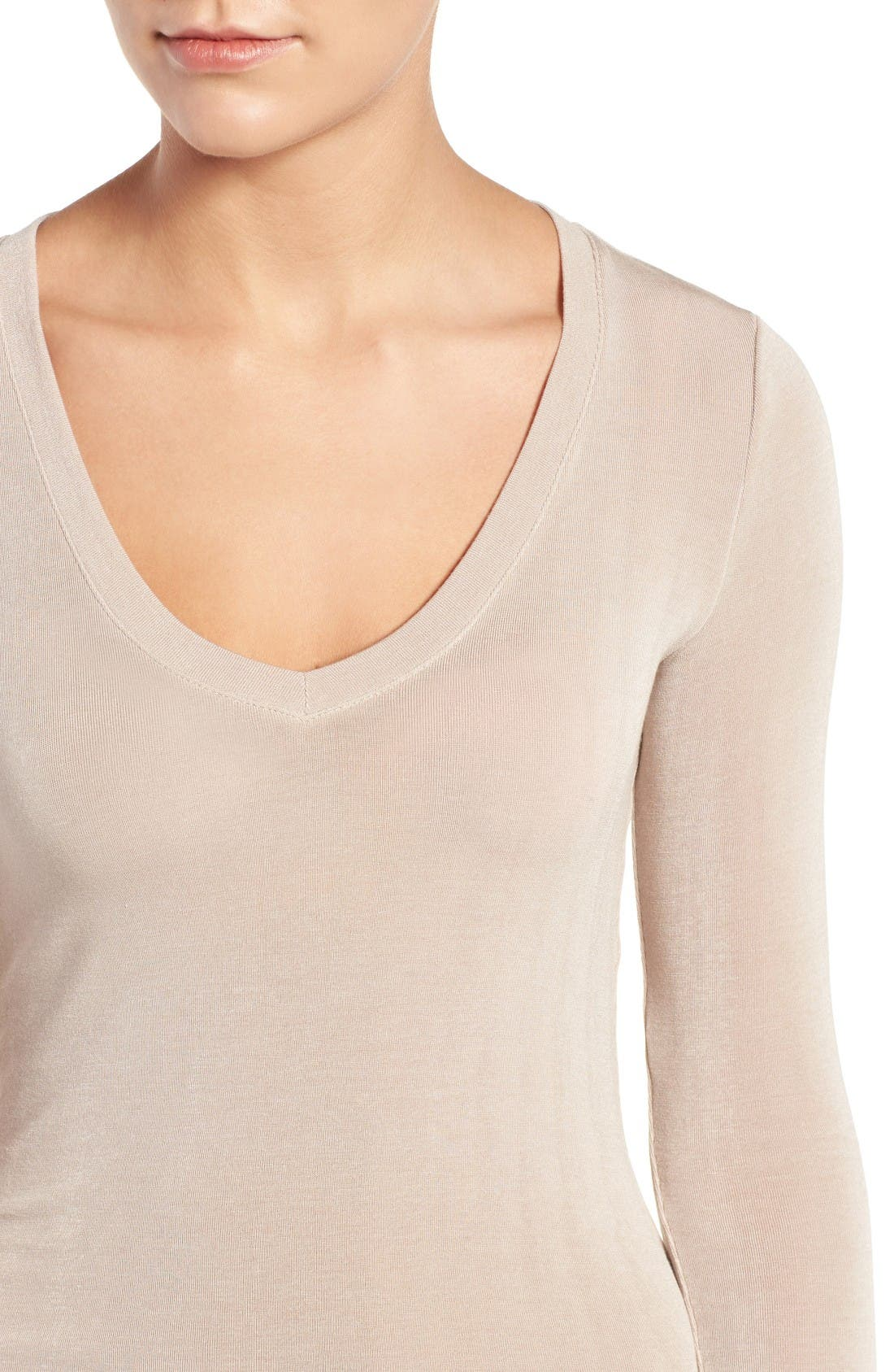 Sheer Tee,                             Alternate thumbnail 4, color,                             Tan Memoir