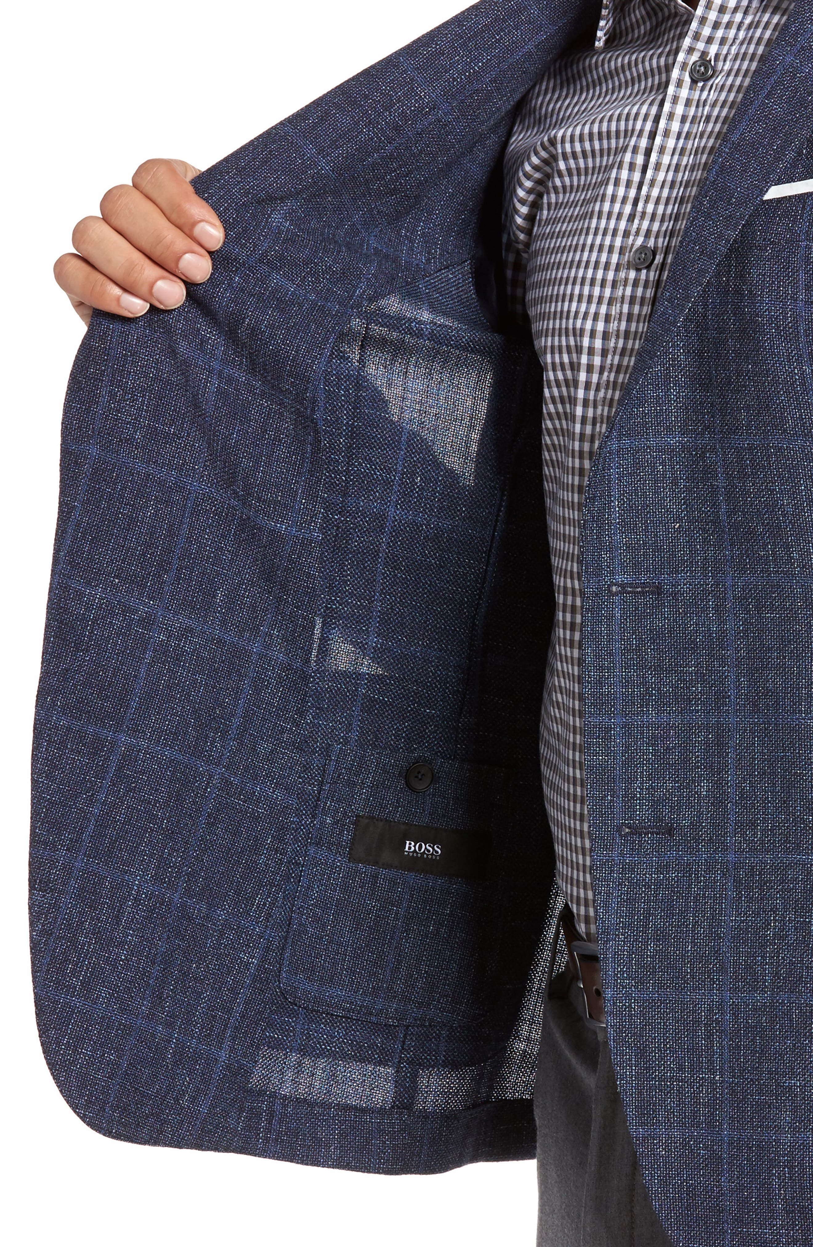 Alternate Image 4  - BOSS Nold Trim Fit Unconstructed Wool Blend Sport Coat