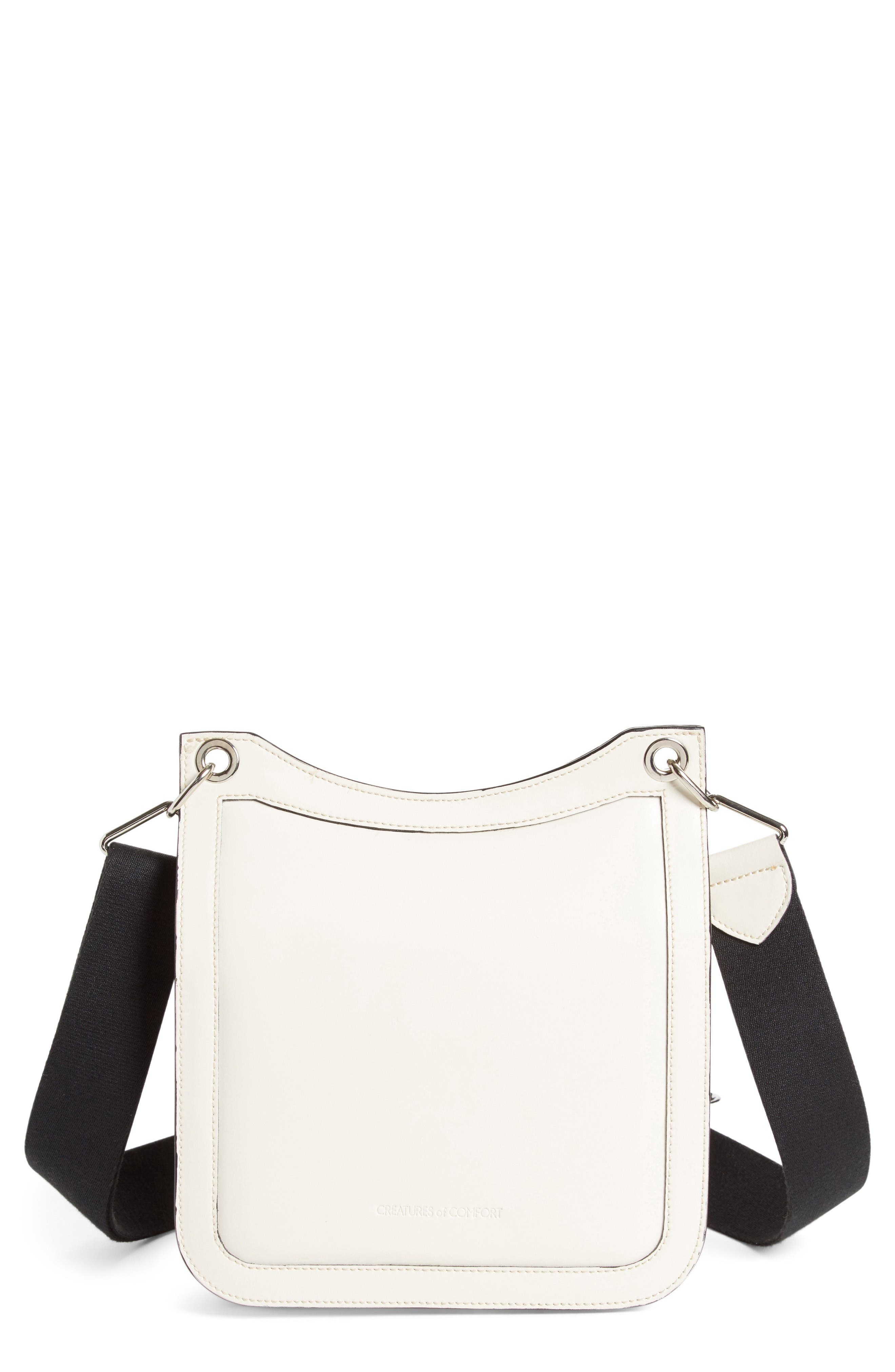 Equestrian Crossbody Bag,                             Main thumbnail 1, color,                             White