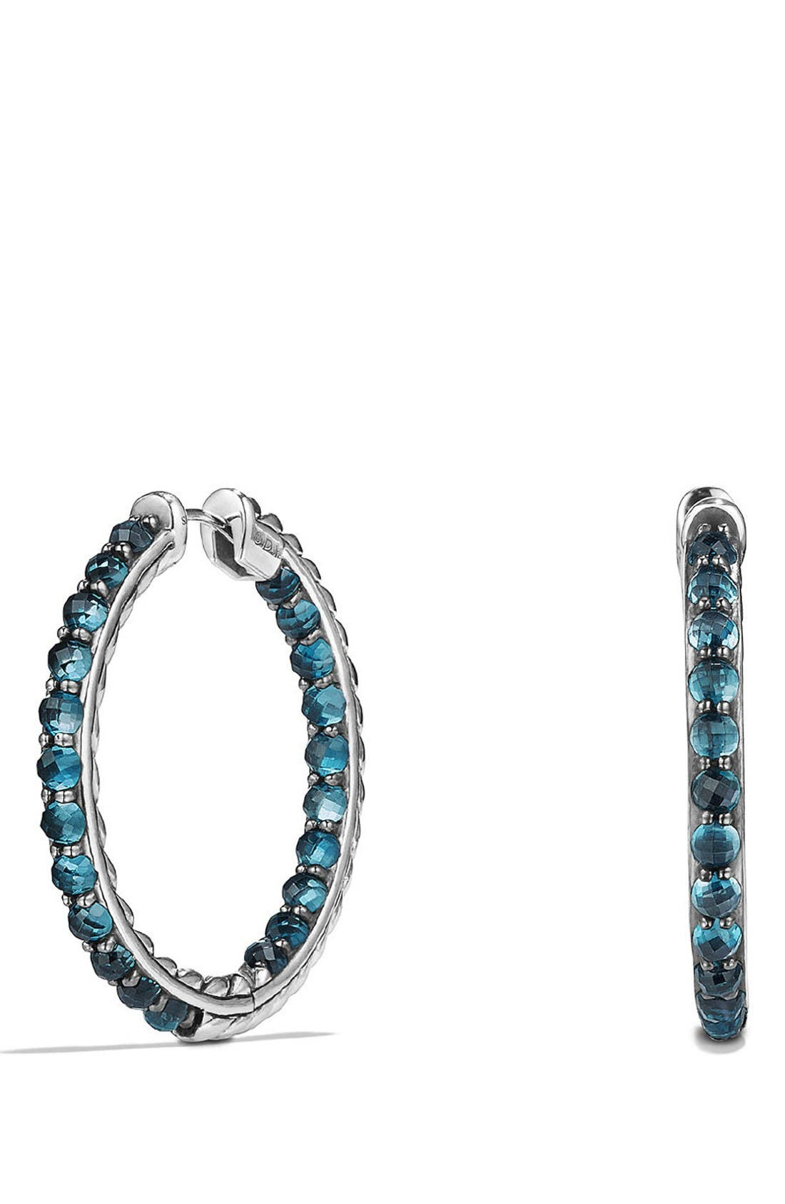 Osetra Hoop Earrings,                         Main,                         color, Hampton Blue Topaz