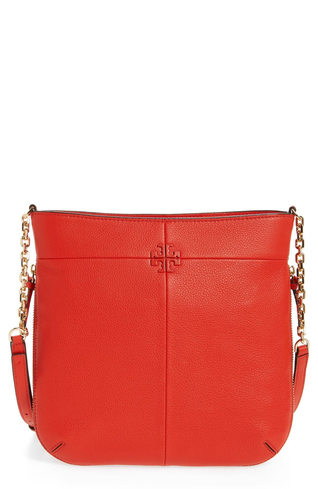 Alternate Image 1 Selected - Tory Burch Ivy Swingpack Leather Hobo