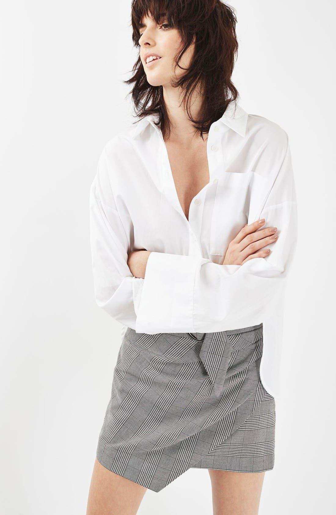 Alternate Image 5  - Topshop Belted Glen Plaid Miniskirt