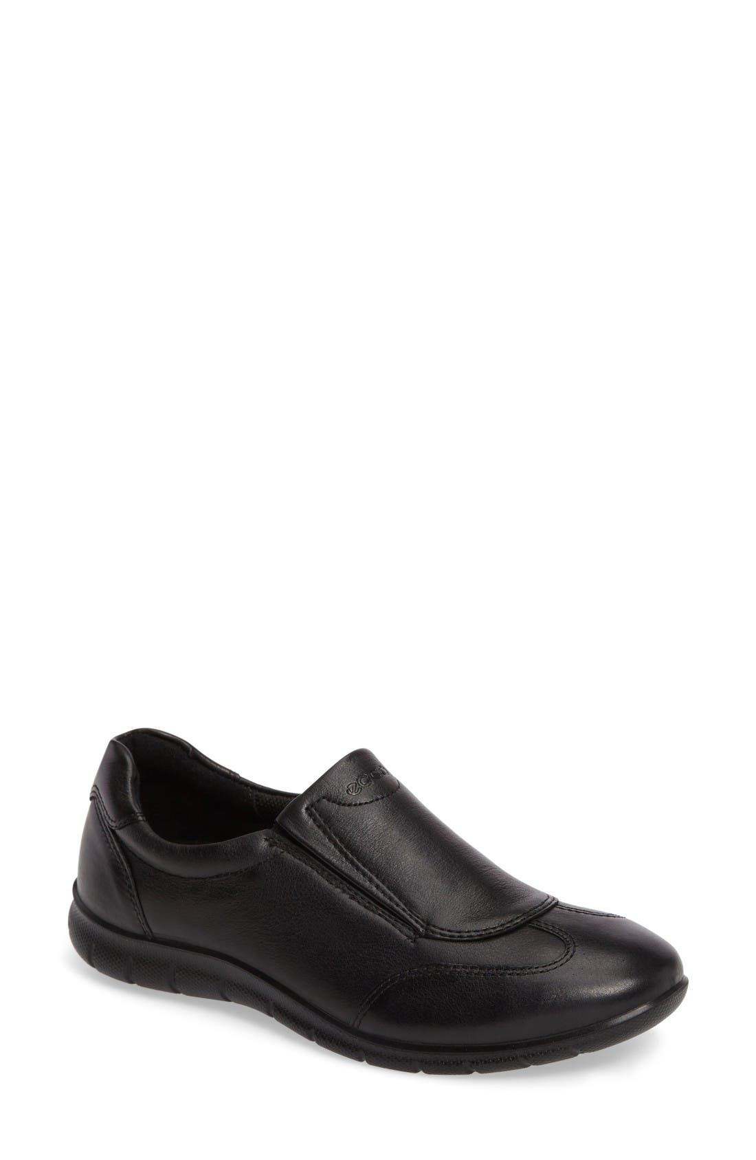 Babett II Slip-On,                             Main thumbnail 1, color,                             Black Leather
