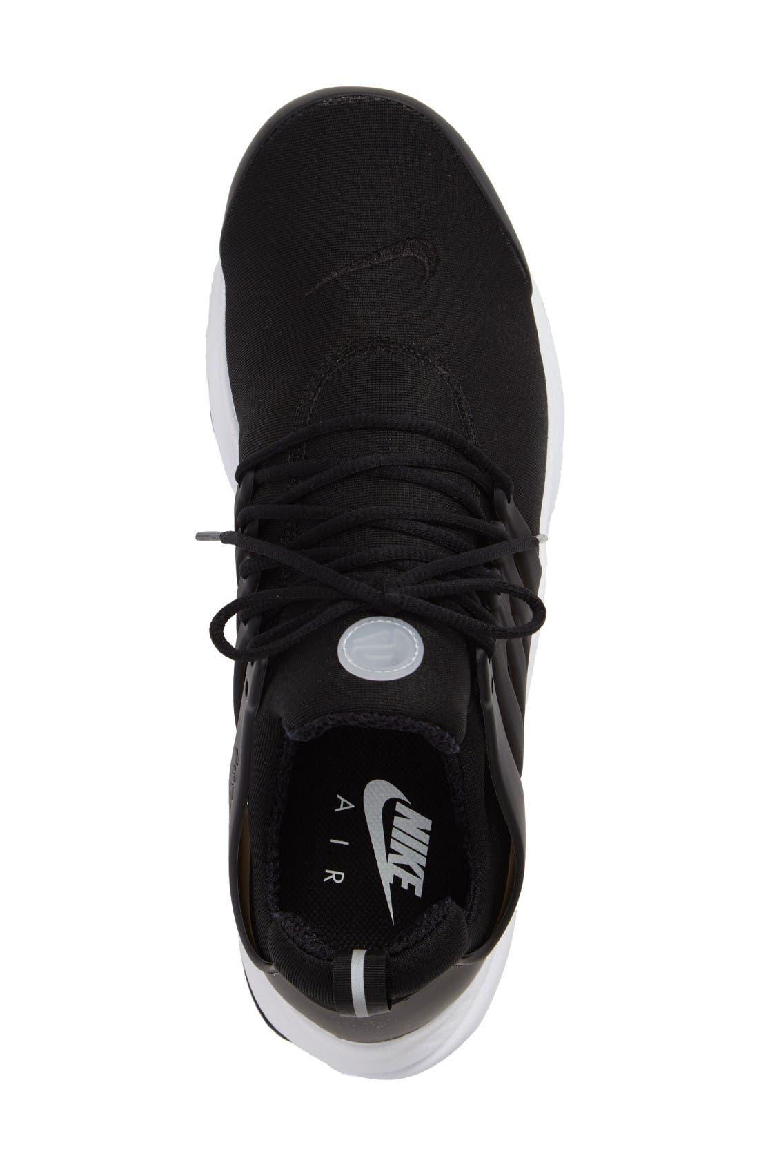 Air Presto Essential Sneaker,                             Alternate thumbnail 3, color,                             Black/ Black/ White