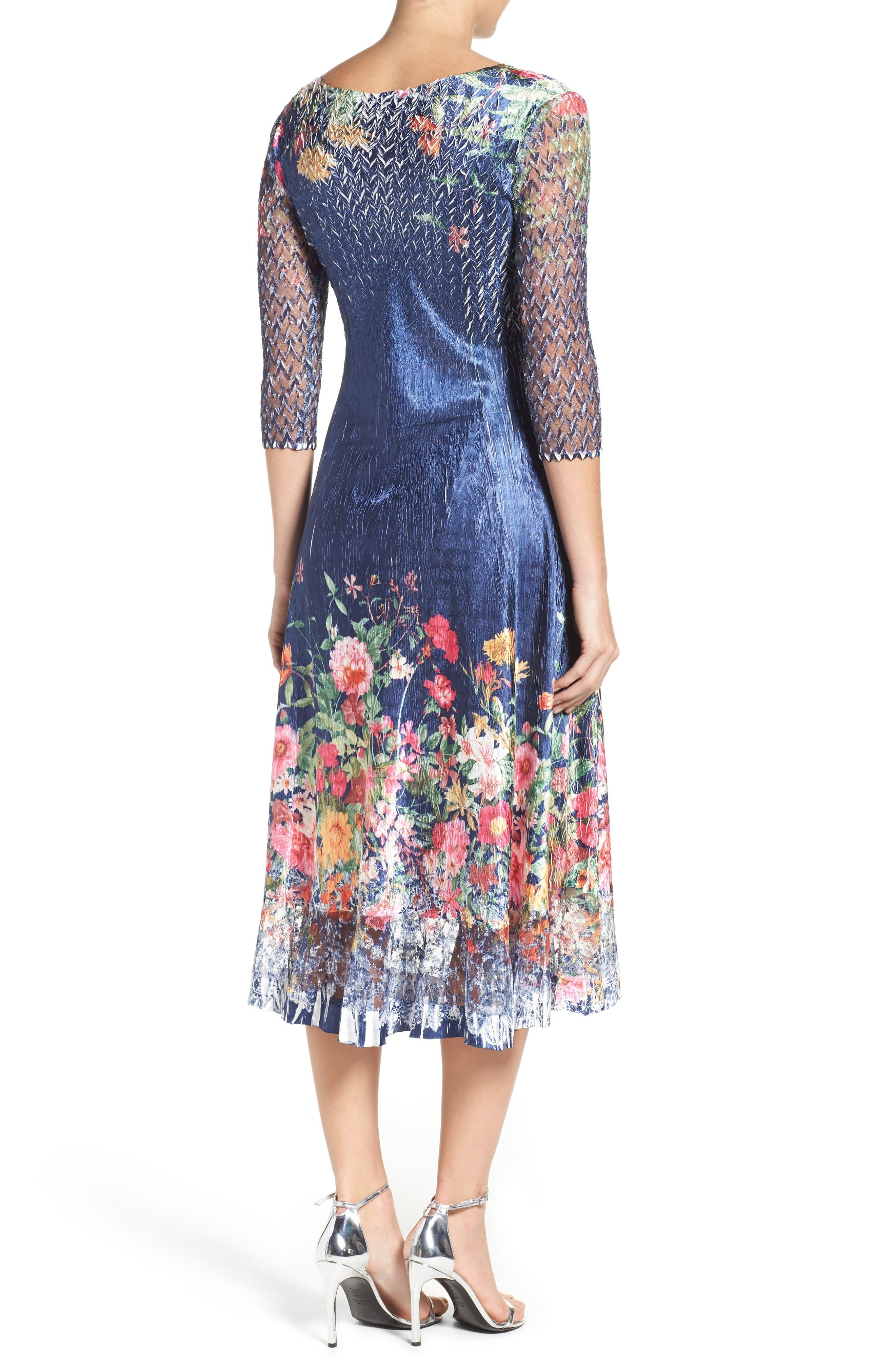 Alternate Image 2  - Komarov Floral Print A-Line Dress
