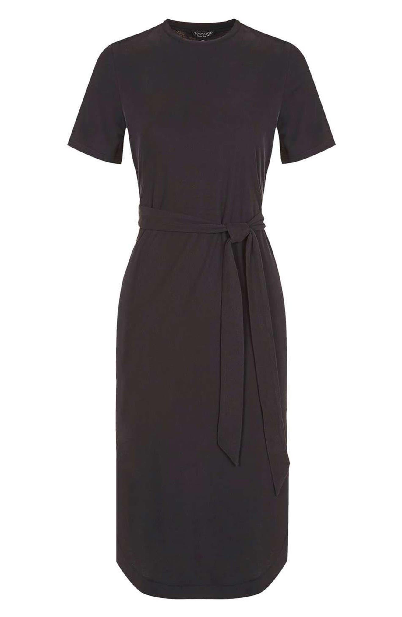 Alternate Image 4  - Topshop Ribbed Midi Dress