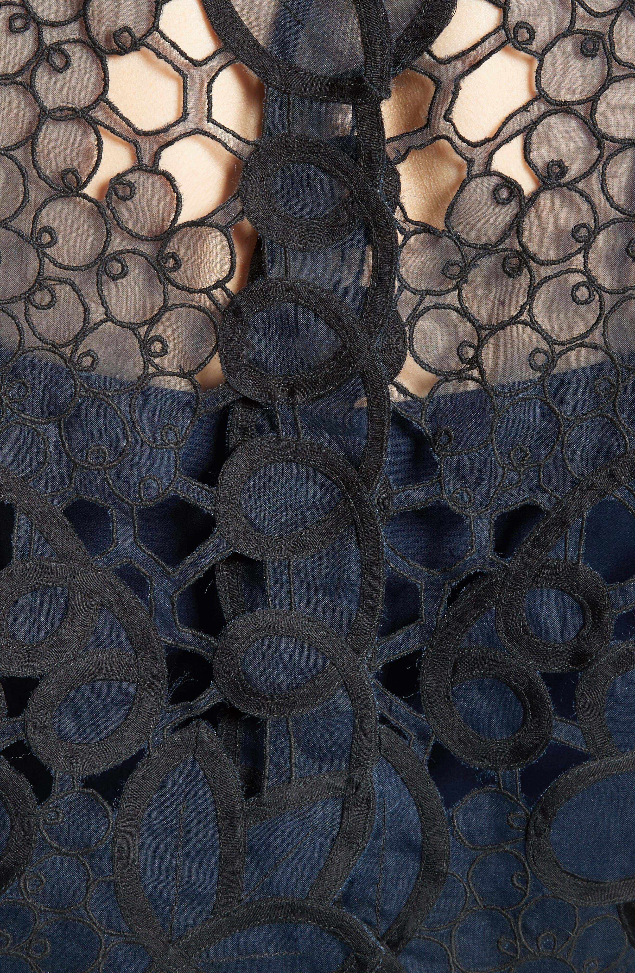 Reversible Lace Bolero,                             Alternate thumbnail 4, color,                             Navy/ Black