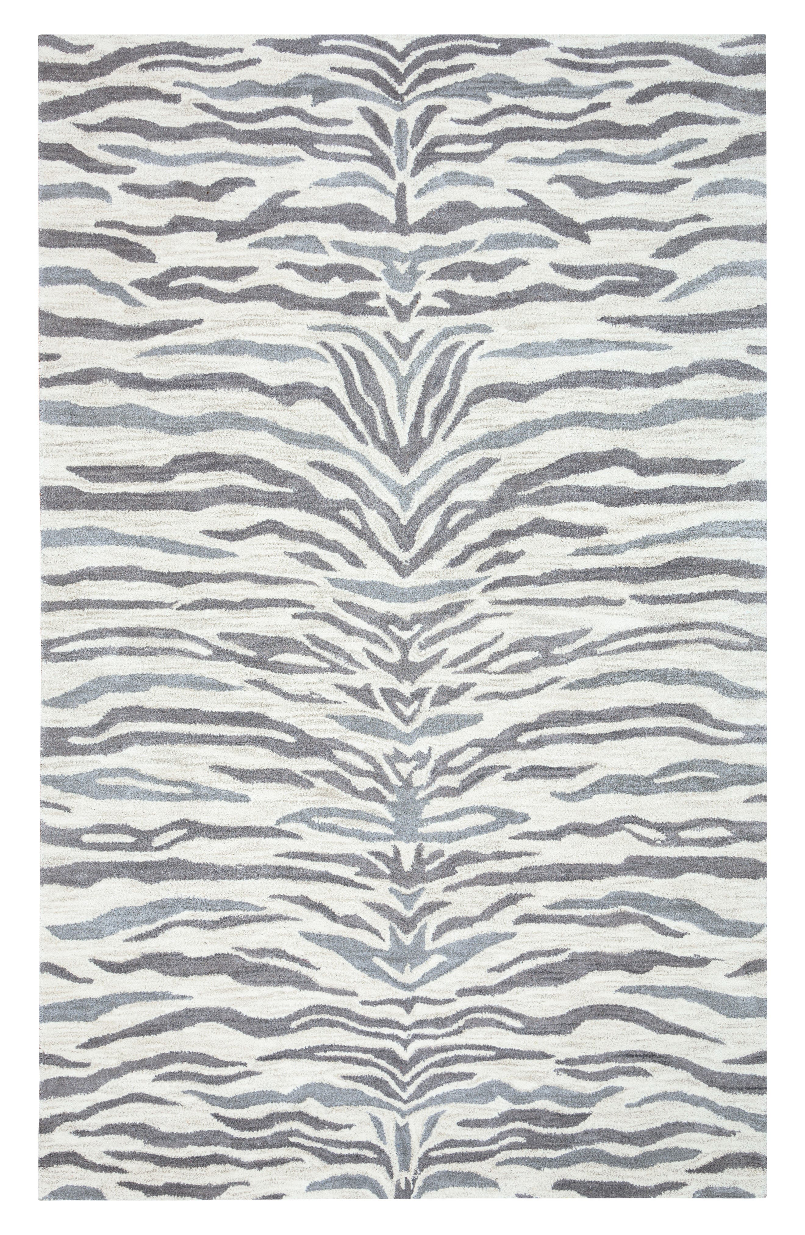 Alternate Image 1 Selected - Rizzy Home 'Valintino Zebra' Hand Tufted Wool Area Rug