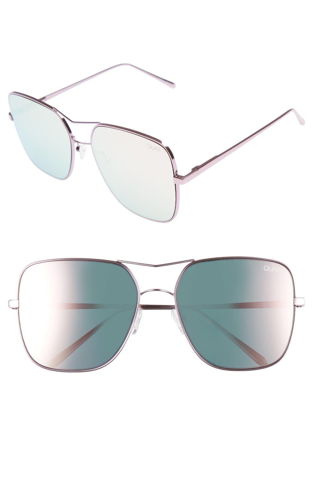 QUAY AUSTRALIA Stop & Stare 58mm Square Sunglasses