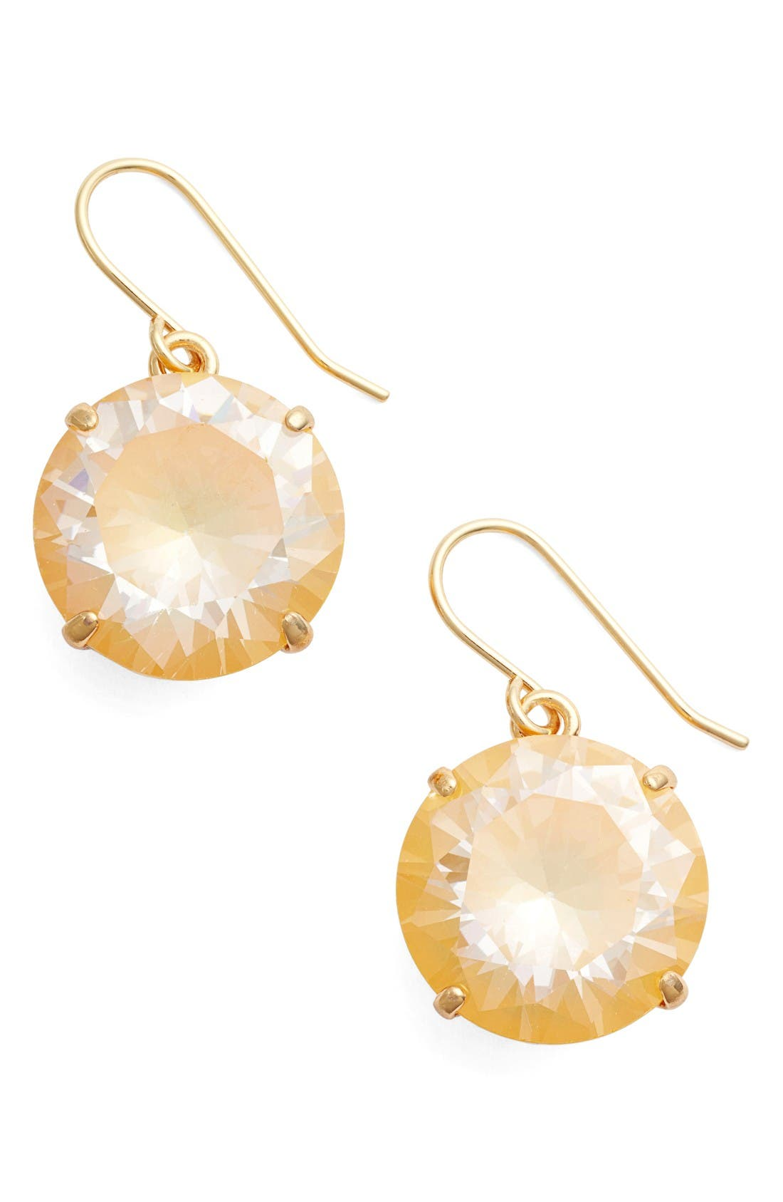 'shine on' drop earrings,                         Main,                         color, Yellow