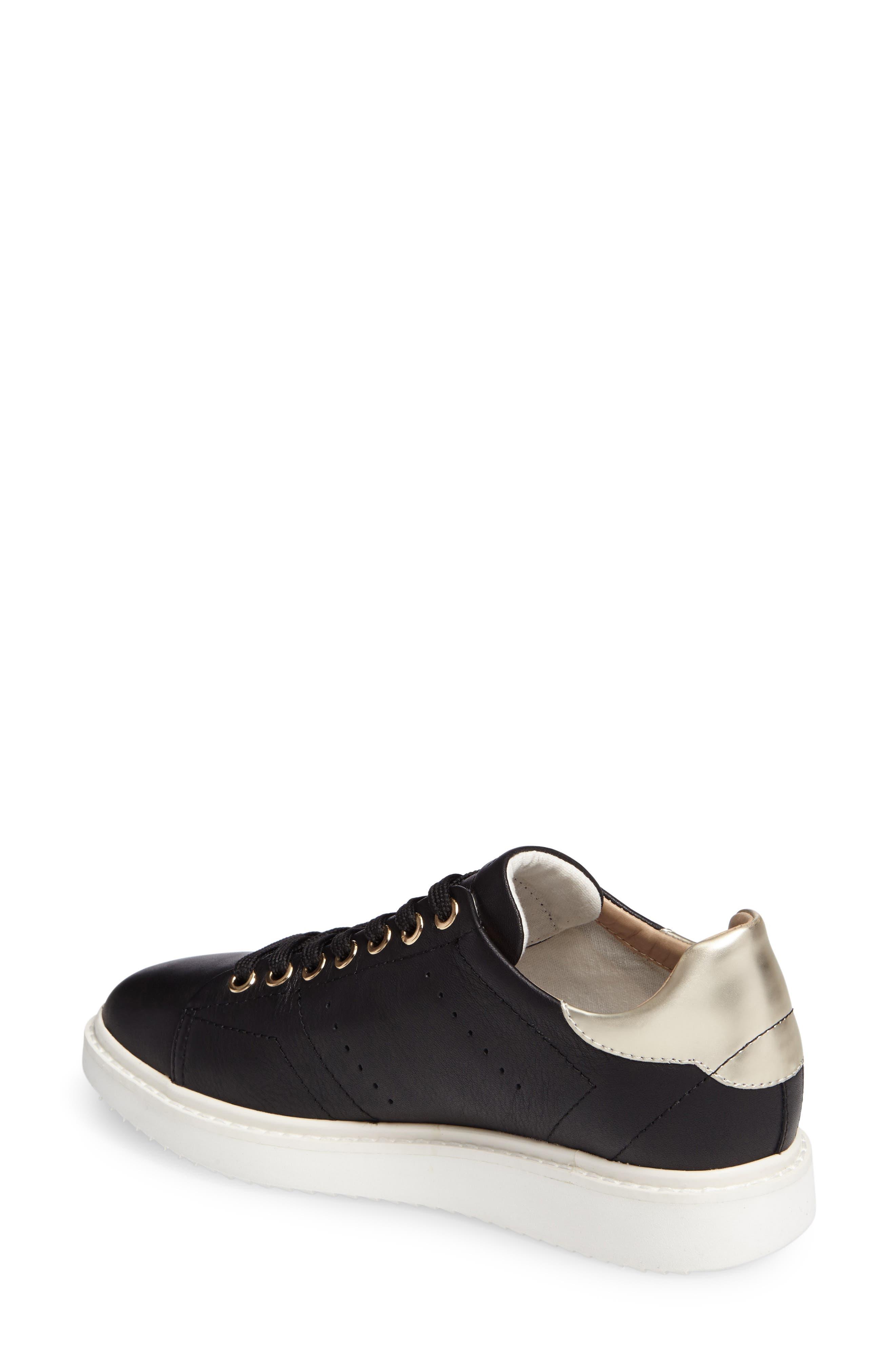 Thymar Sneaker,                             Alternate thumbnail 2, color,                             Black Leather