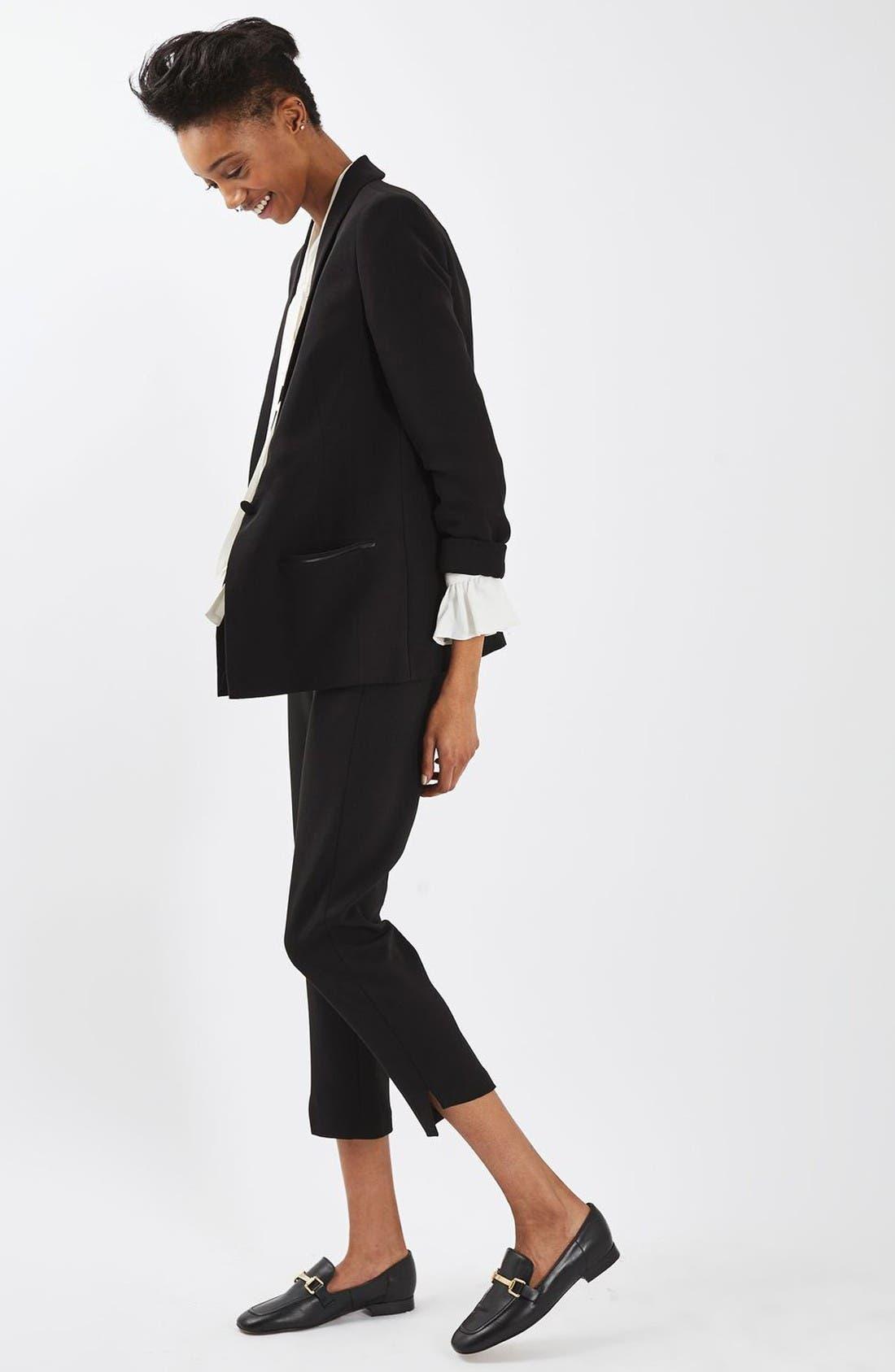 Alternate Image 2  - Topshop Slouch Tuxedo Jacket