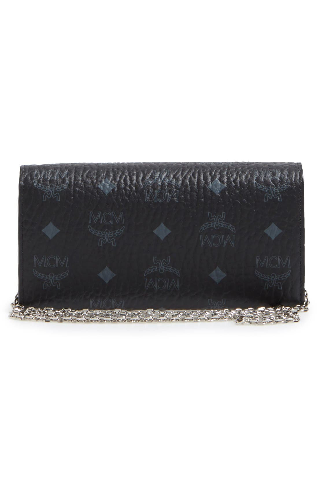 Alternate Image 4  - MCM Large Patricia Visetos Canvas Wallet on a Chain