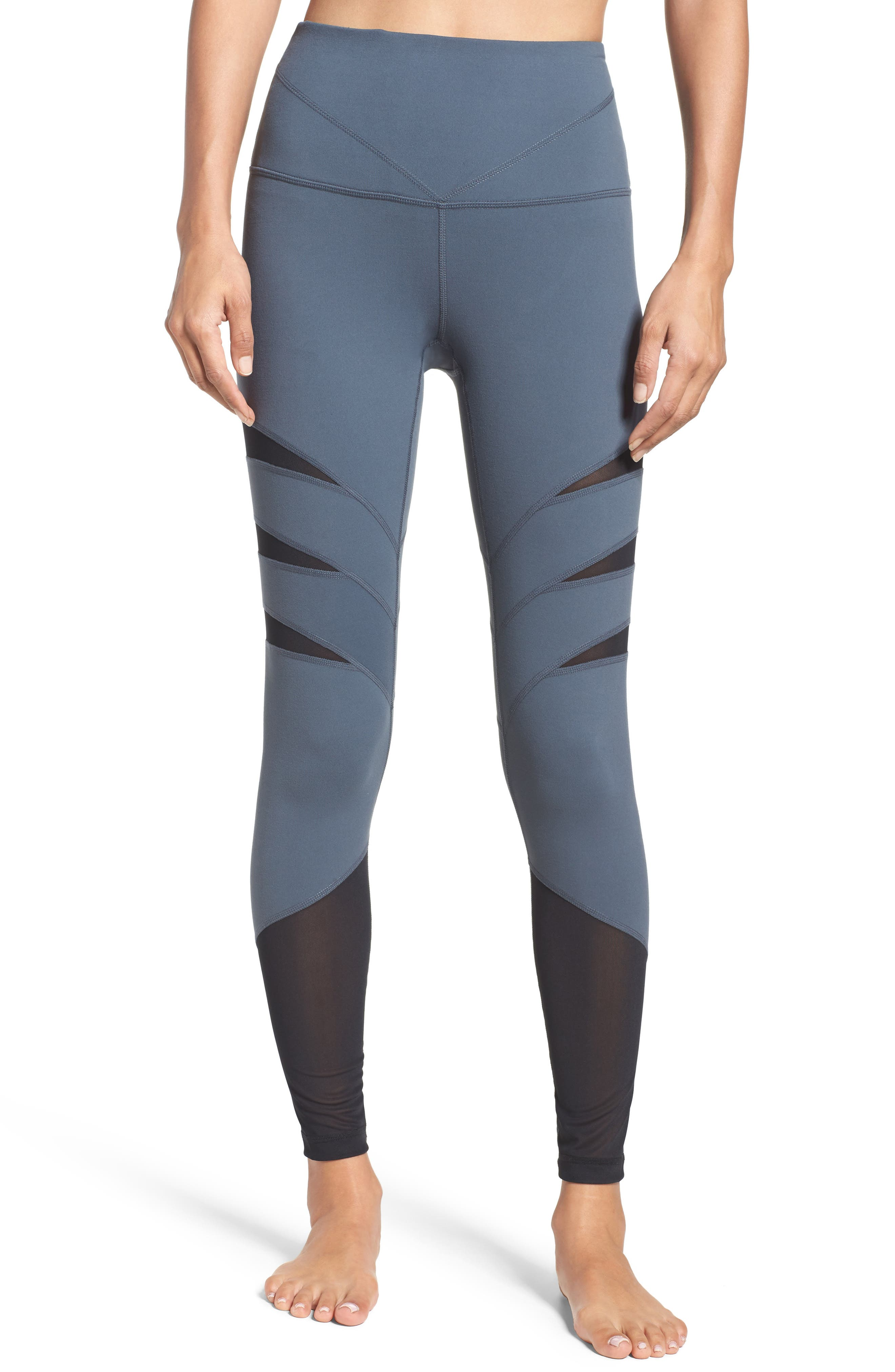 Flash High Waist Leggings,                         Main,                         color, Grey Graphite