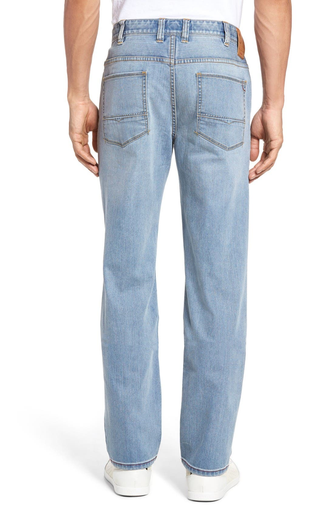Sorrento Straight Leg Jeans,                             Alternate thumbnail 2, color,                             Light Wash