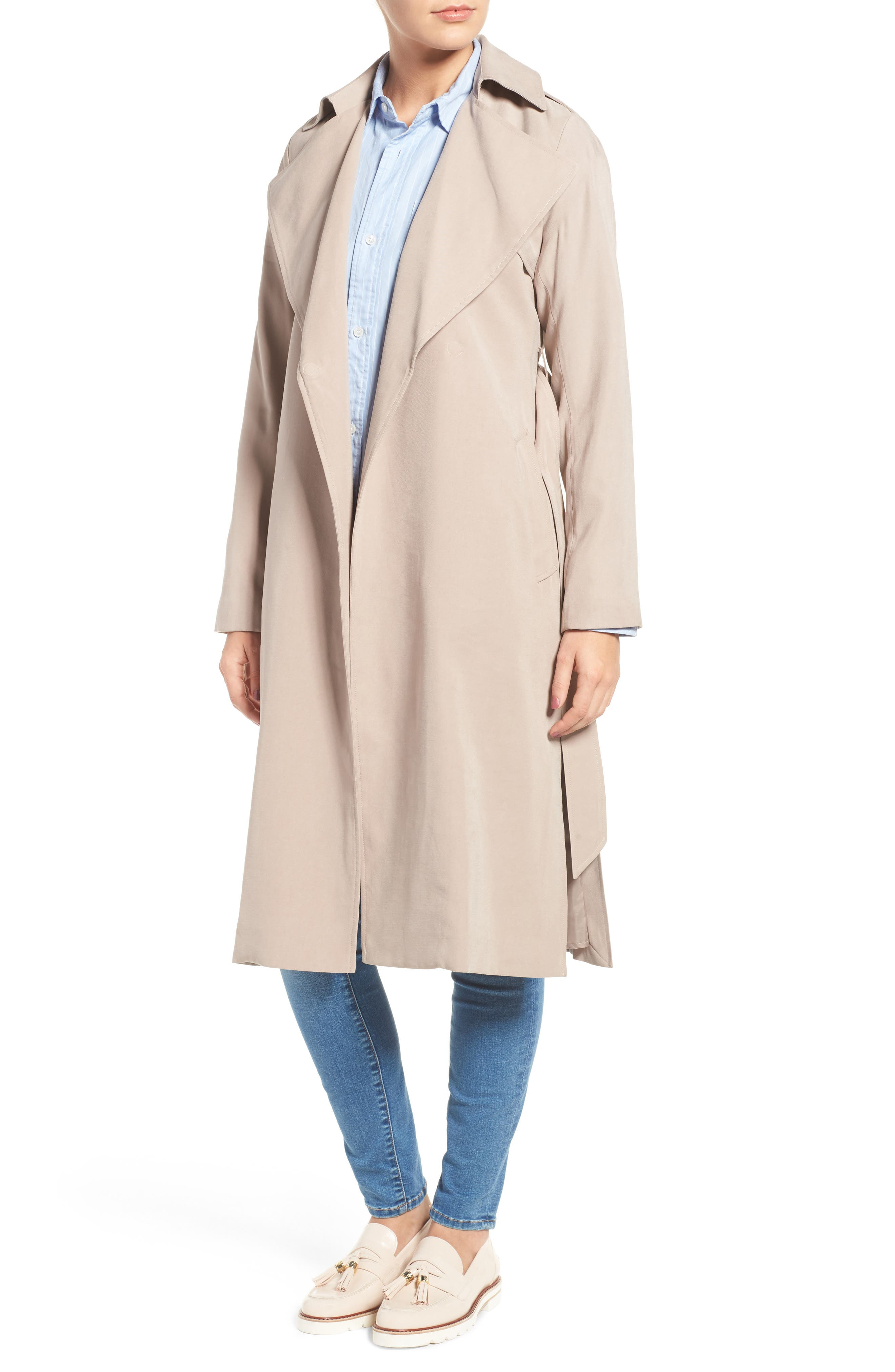 Alternate Image 4  - Cole Haan Signature Long Drapey Trench Coat