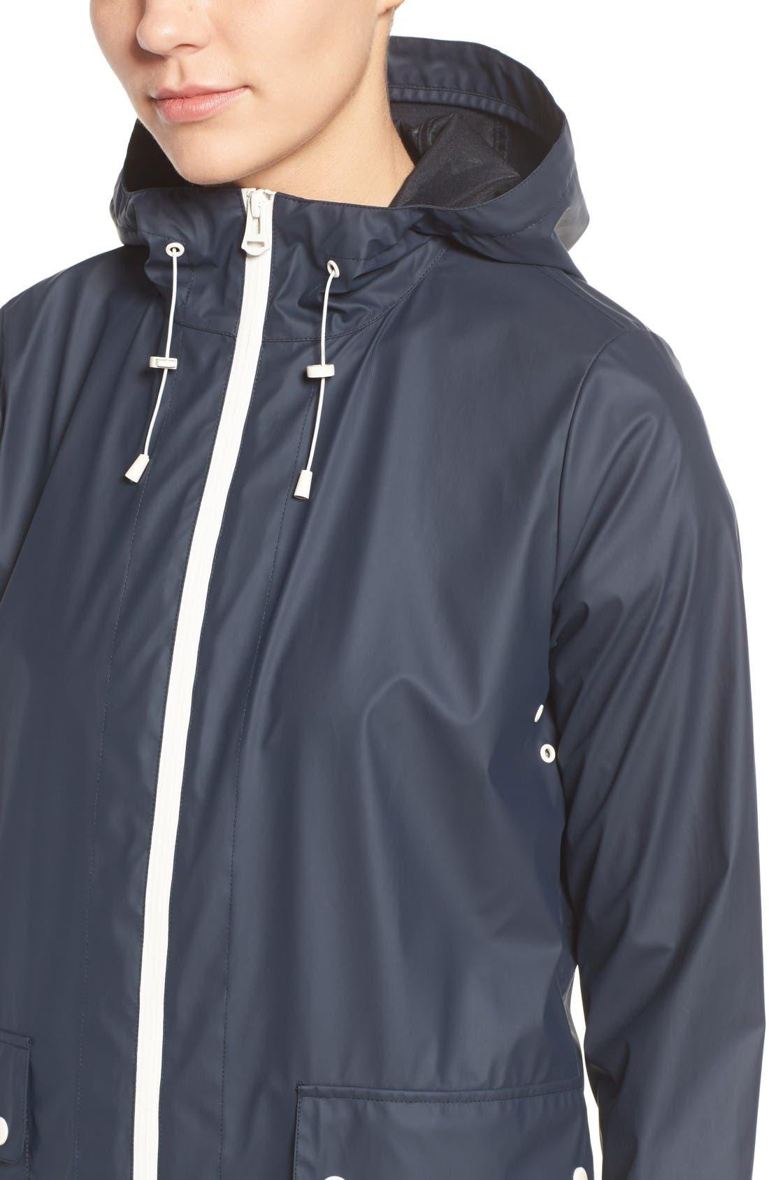 Alternate Image 4  - Cole Haan Hooded Rain Jacket