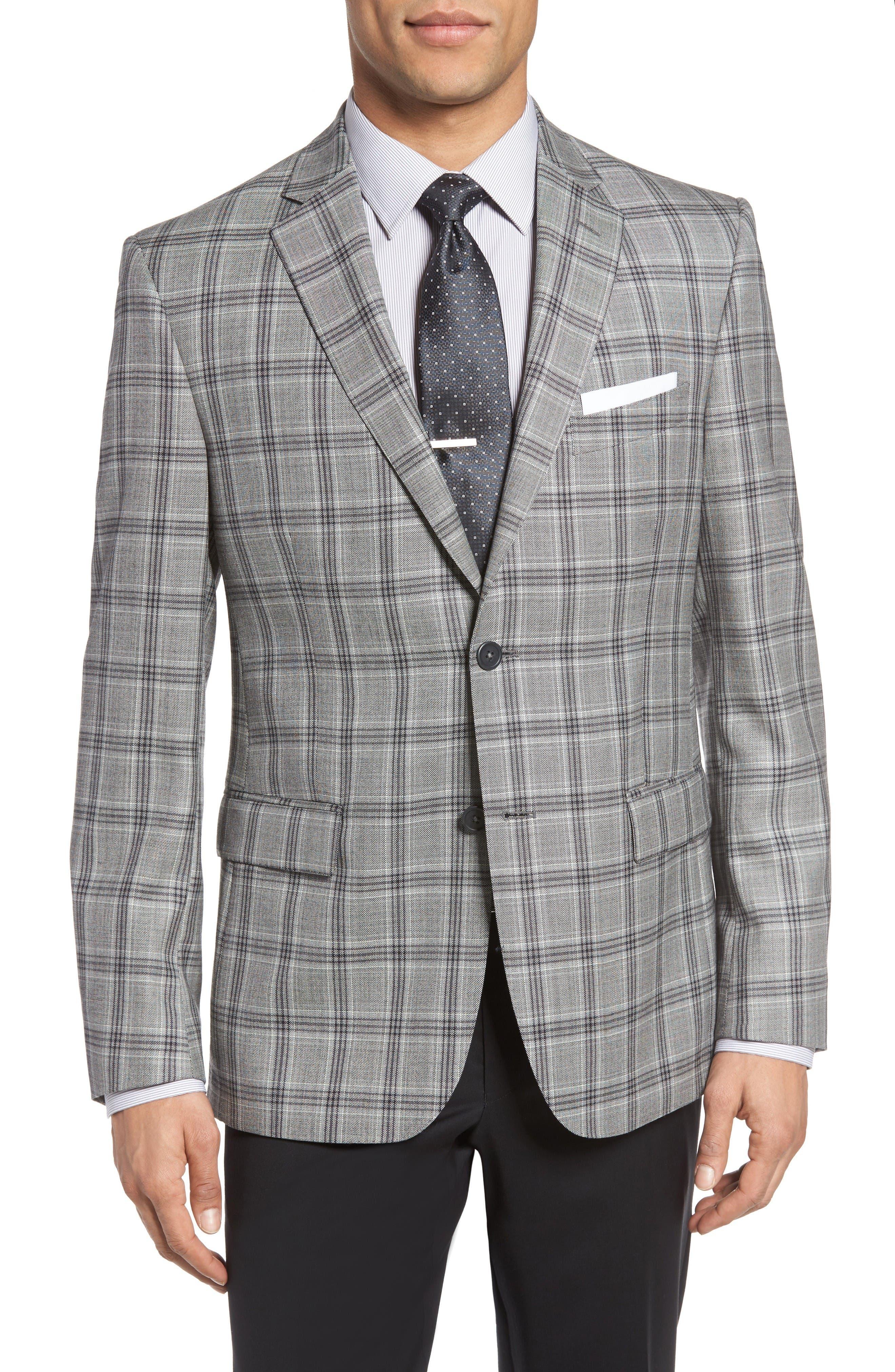 Main Image - JB Britches Classic Fit Plaid Wool Sport Coat
