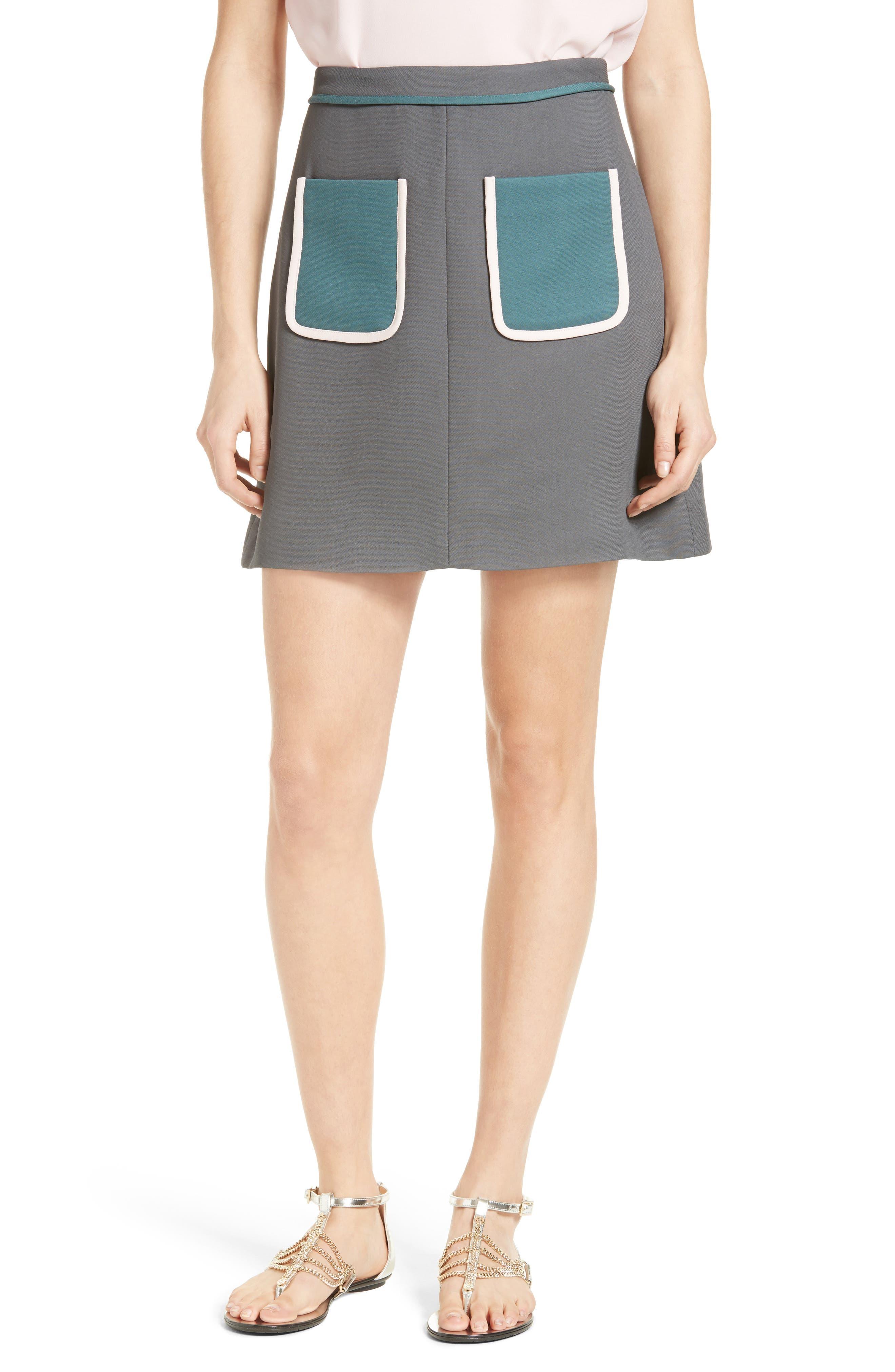 Ted Baker London Naira Contrast Pocket Skirt