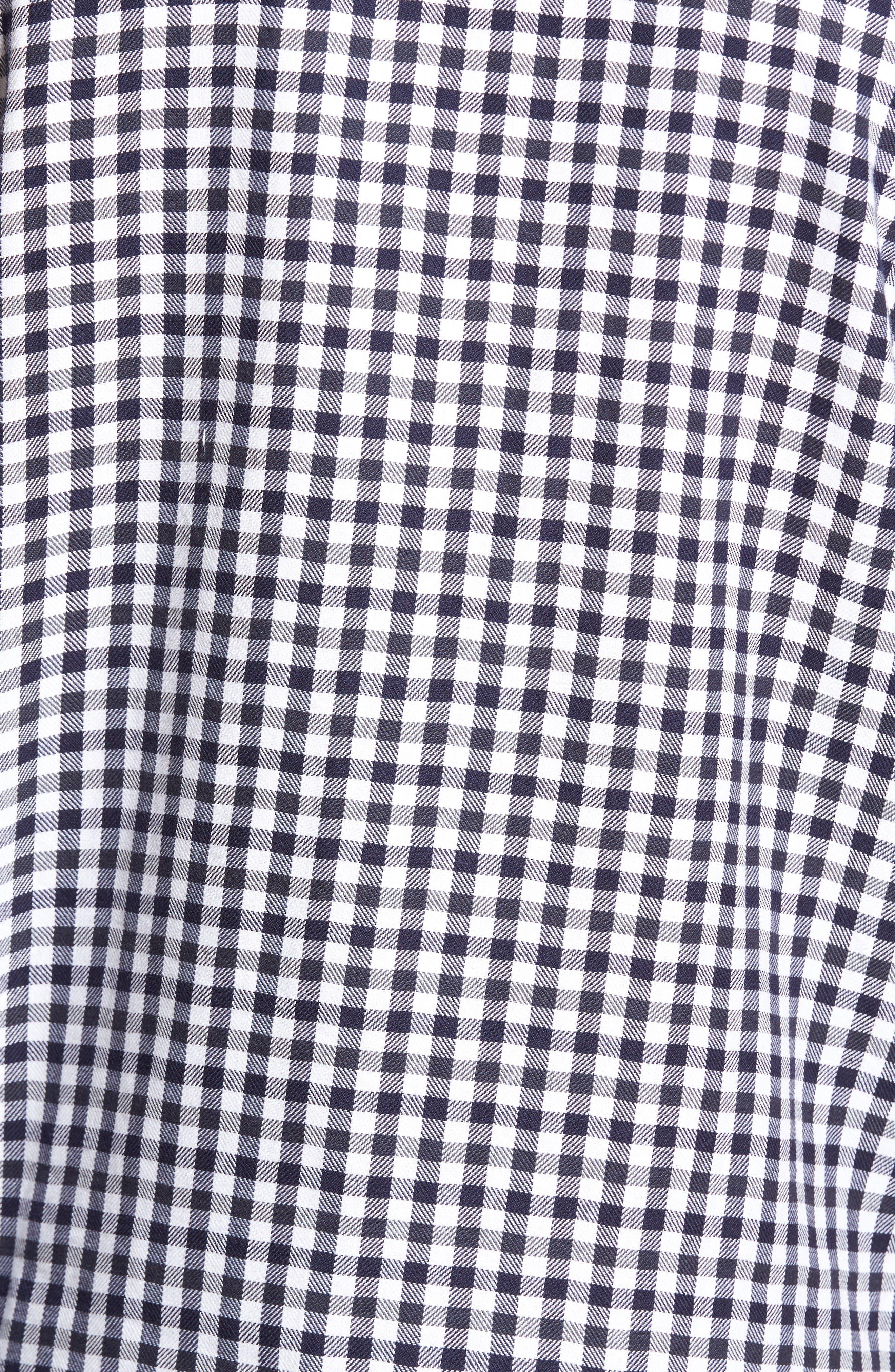 Alternate Image 5  - French Connection Lifeline Herringbone Gingham Sport Shirt