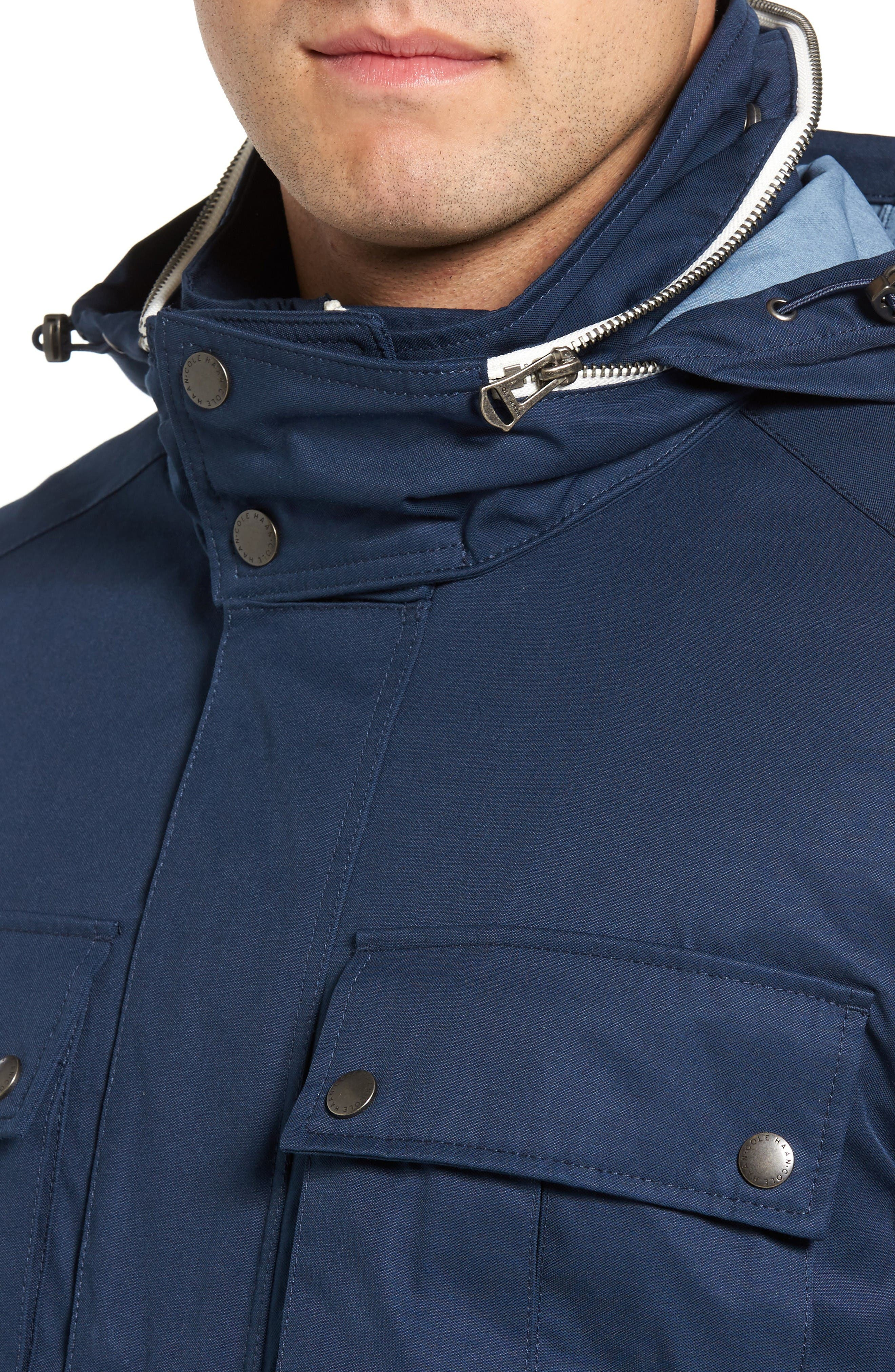 Military Oxford Jacket,                             Alternate thumbnail 4, color,                             Indigo