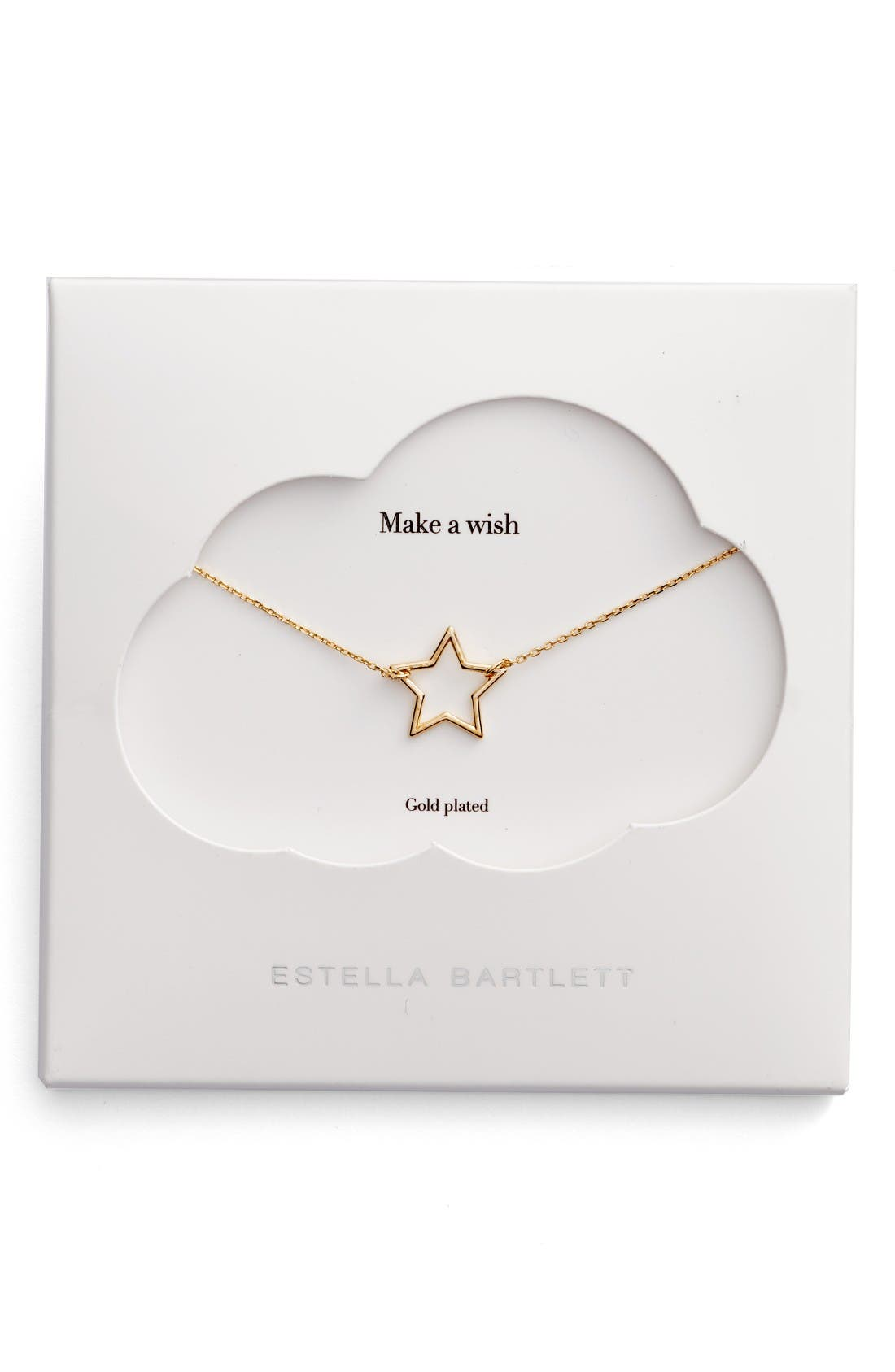 Main Image - Estella Bartlett Open Star Pendant Necklace