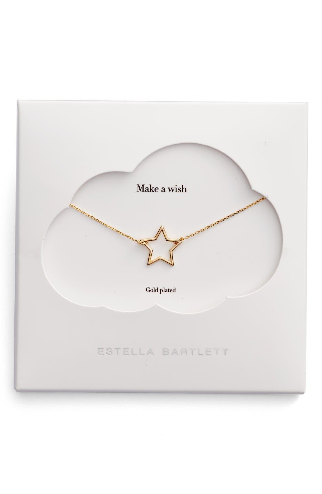 Open Star Pendant Necklace,                         Main,                         color, Gold