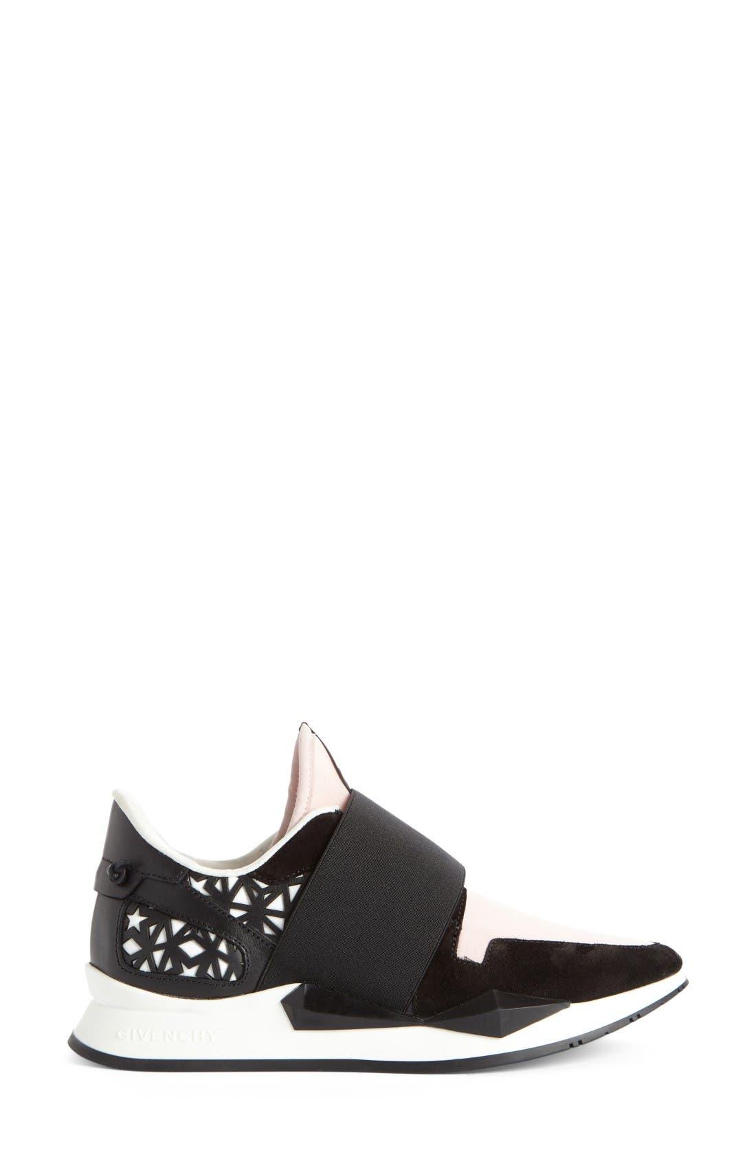 Slip-On Sneaker,                             Alternate thumbnail 4, color,                             Black/ Pink