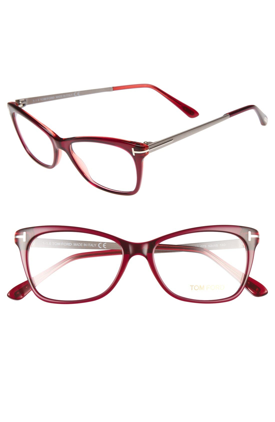 Alternate Image 1 Selected - Tom Ford 52mm Cat Eye Optical Glasses