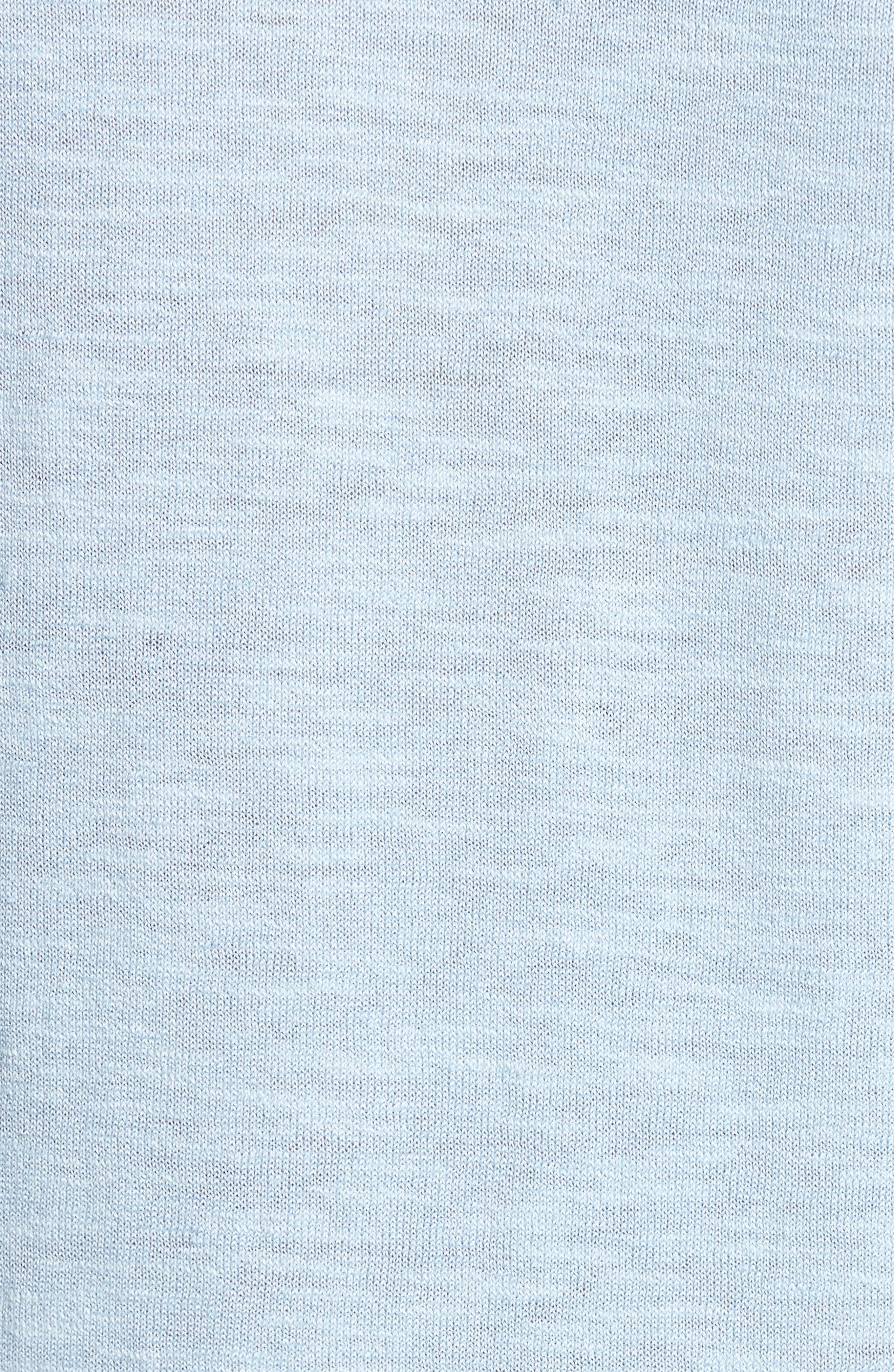 Arambol Cotton & Linen Sweater,                             Alternate thumbnail 5, color,                             Blue Lagoon