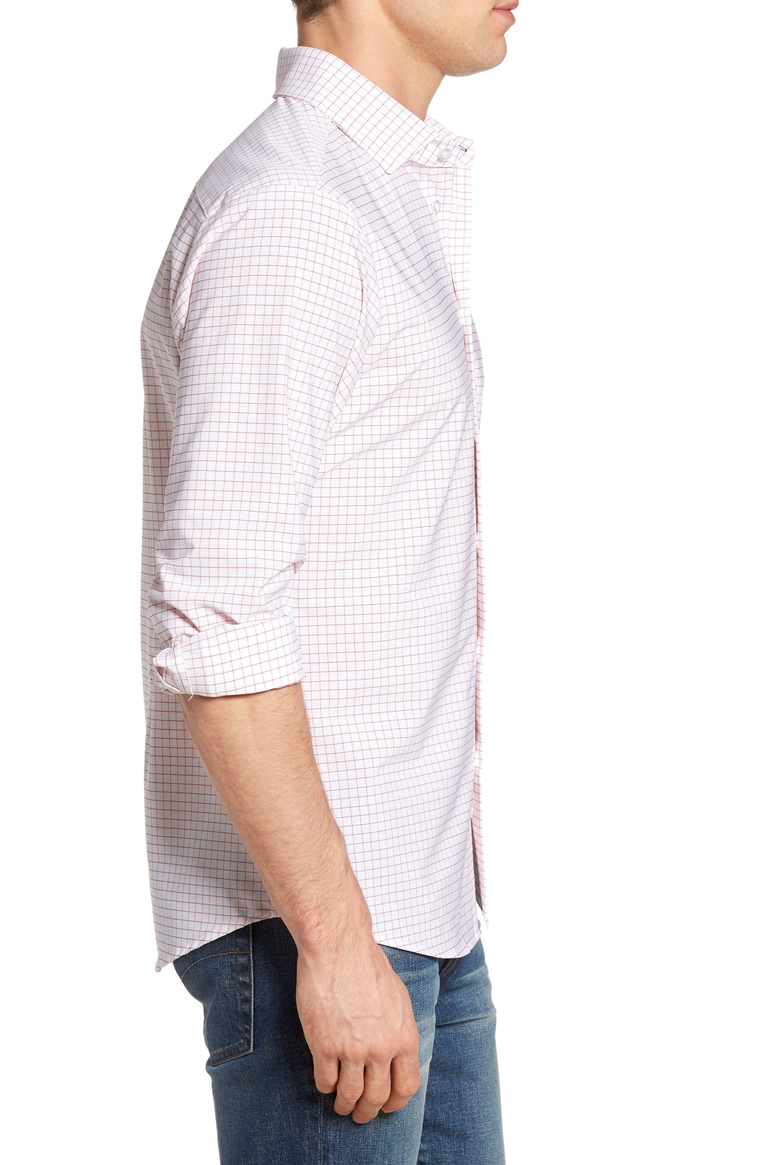 Alternate Image 3  - Mizzen+Main York Slim Fit Tattersall Performance Sport Shirt