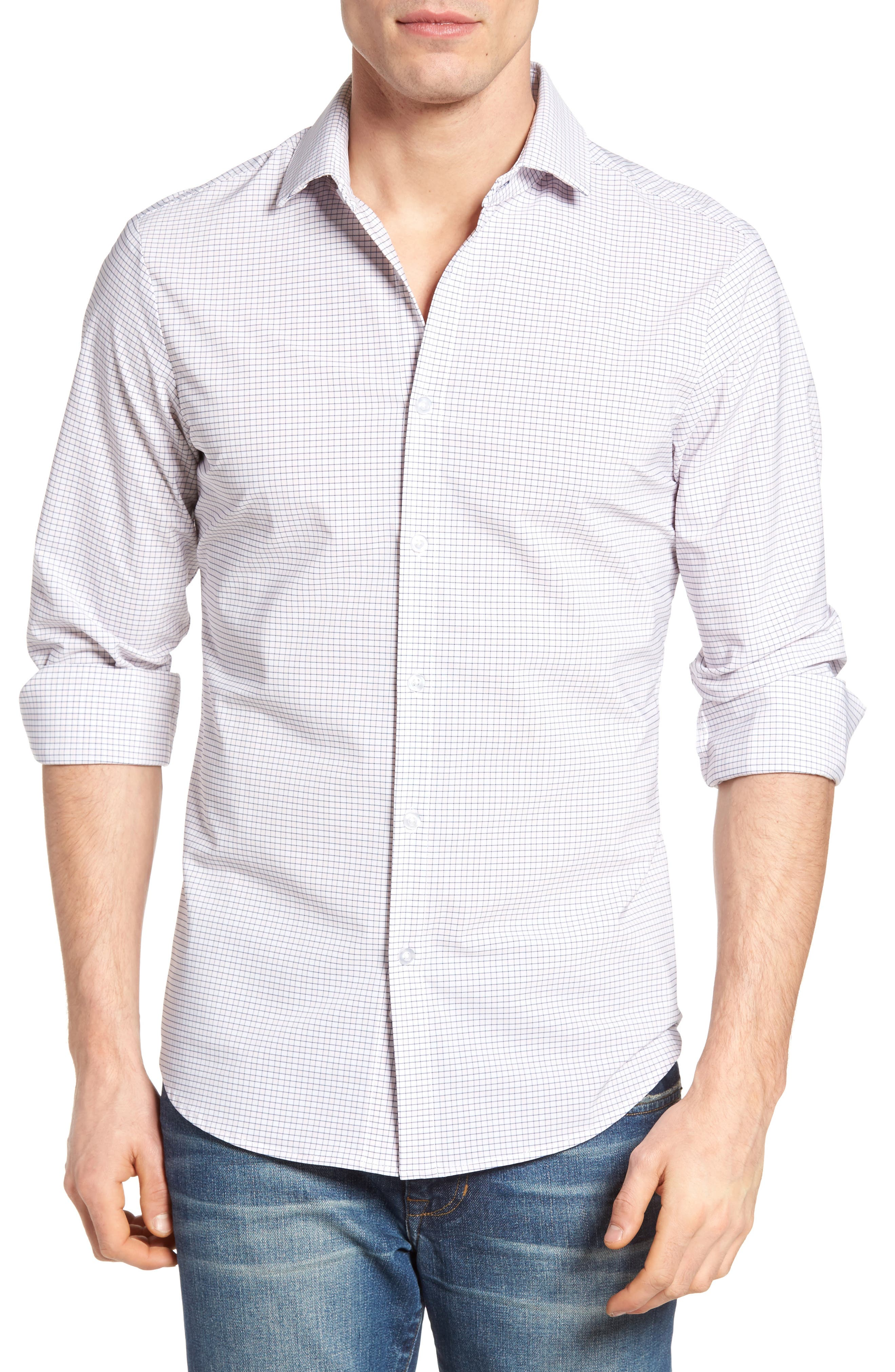 Main Image - Mizzen+Main Fowler Illusion Gingham Performance Sport Shirt