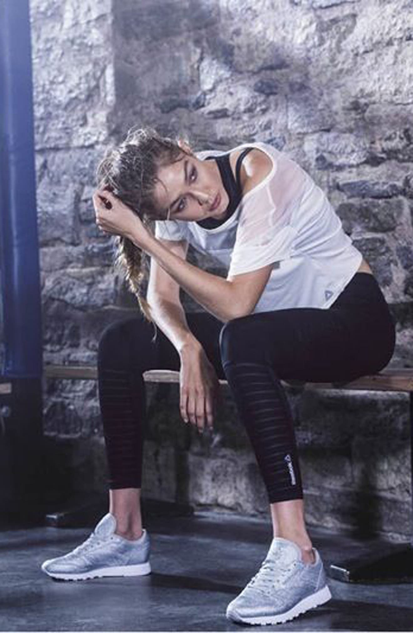 Alternate Image 7  - Reebok Dance Mesh Leggings