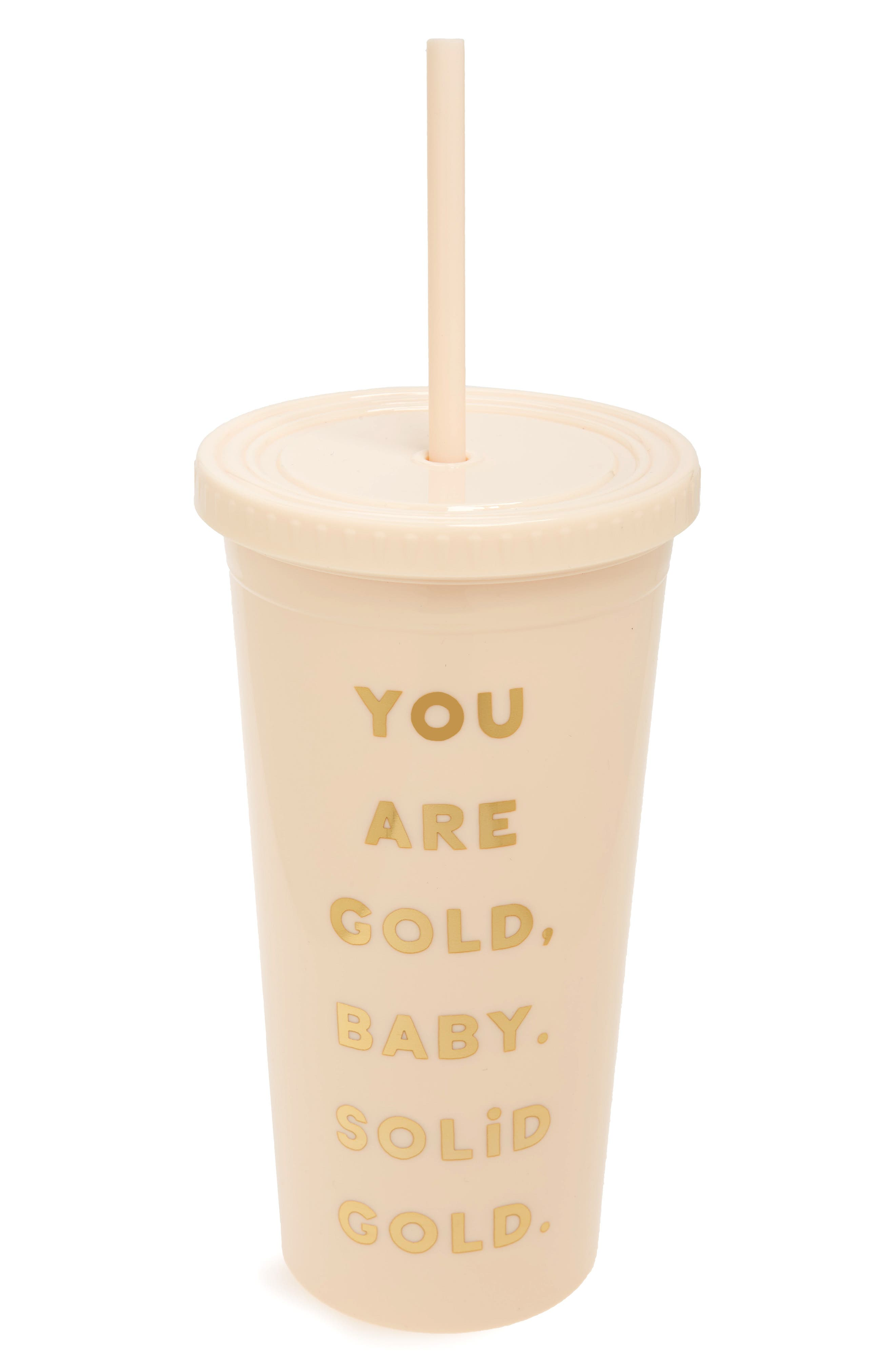 Alternate Image 1 Selected - ban.do Sip Sip You Are Gold Travel Tumbler