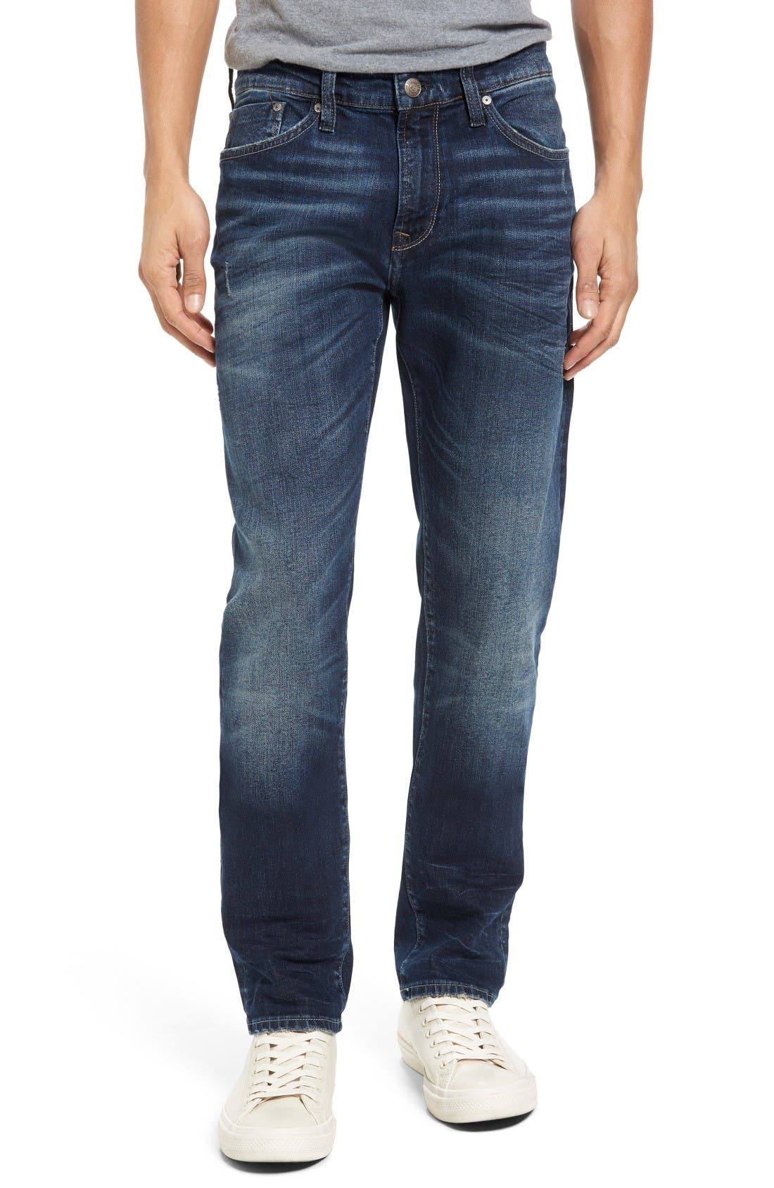 Mavi Jeans Jake Easy Slim Fit Jeans (Dark Ripped)