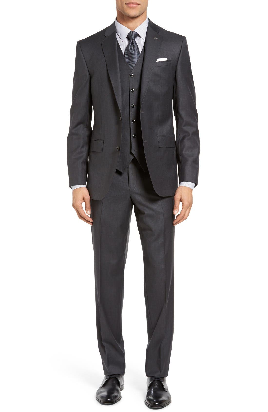 Alternate Image 9  - Ted Baker London 'Jay' Trim Fit Solid Wool Suit