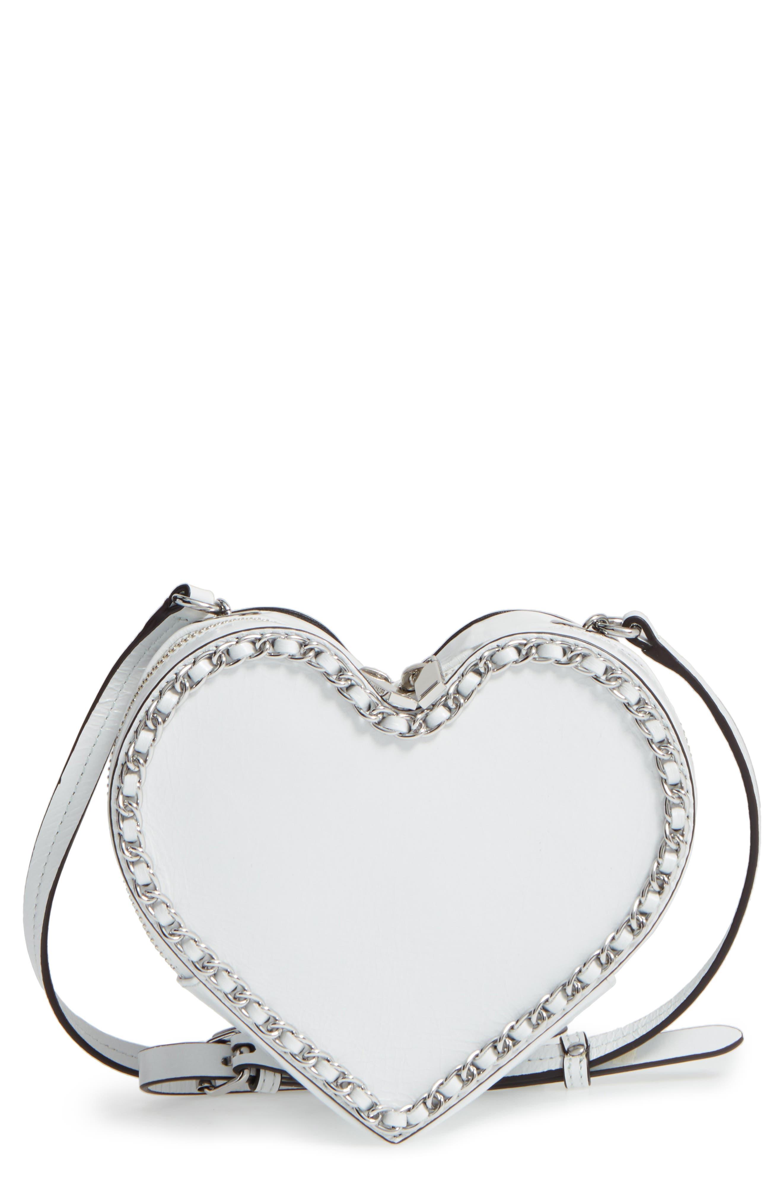 Main Image - Rebecca Minkoff Chain Heart Crossbody Bag