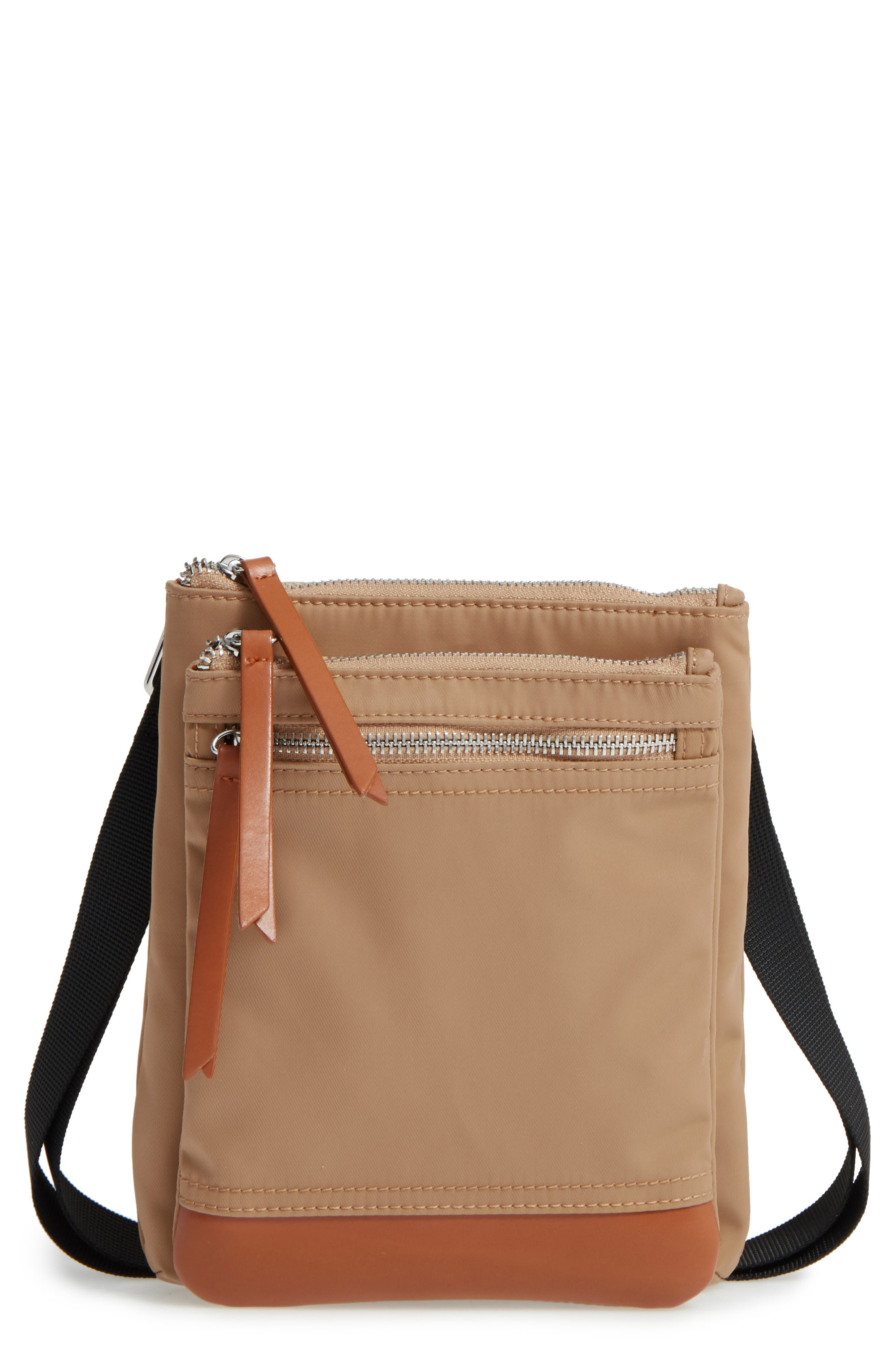 LODIS Los Angeles Zora RFID Nylon & Leather Crossbody Bag