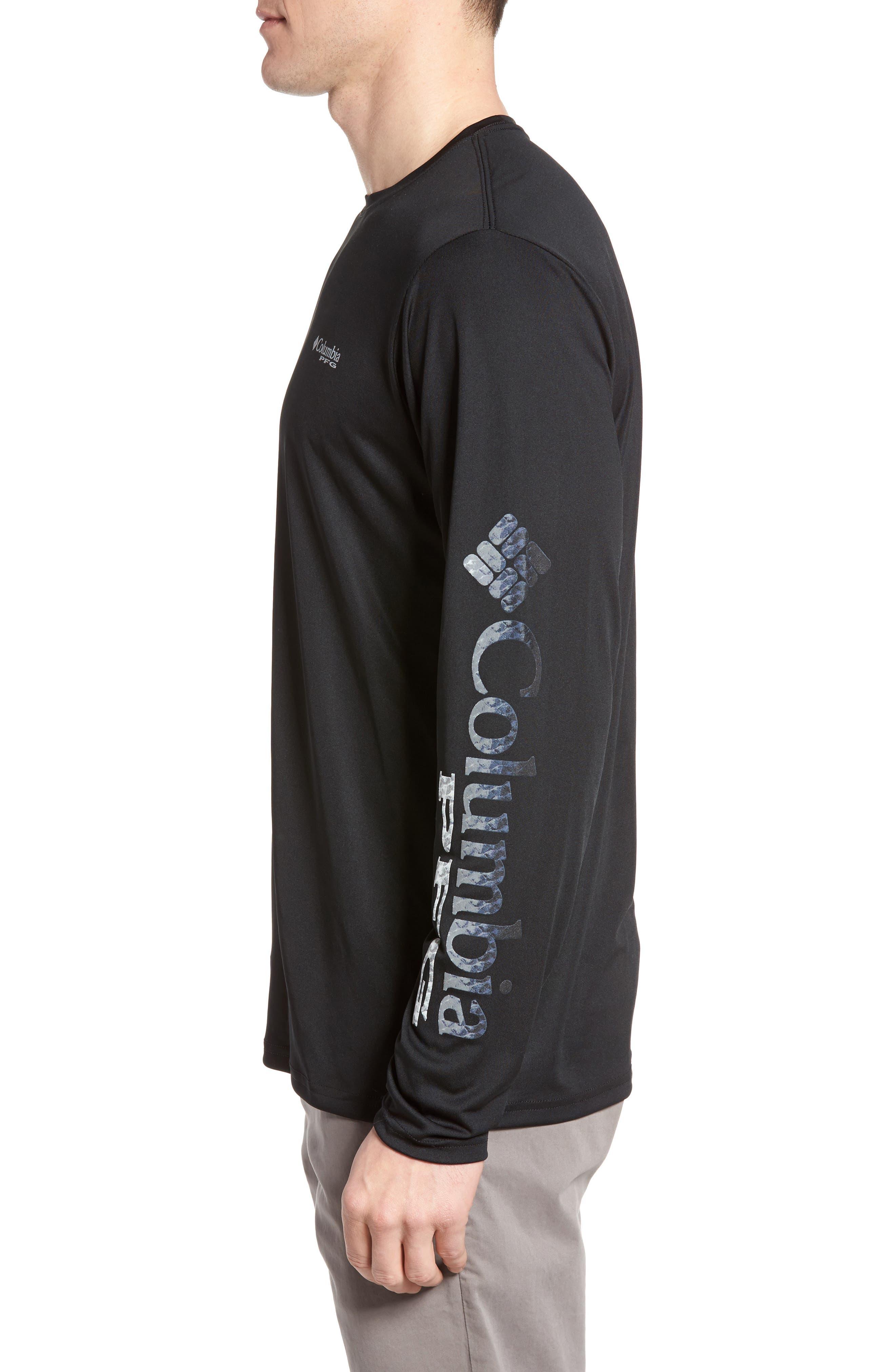 PFG Terminal Tackle Performance Long Sleeve T-Shirt,                             Alternate thumbnail 3, color,                             Black Gulf Stream Logo