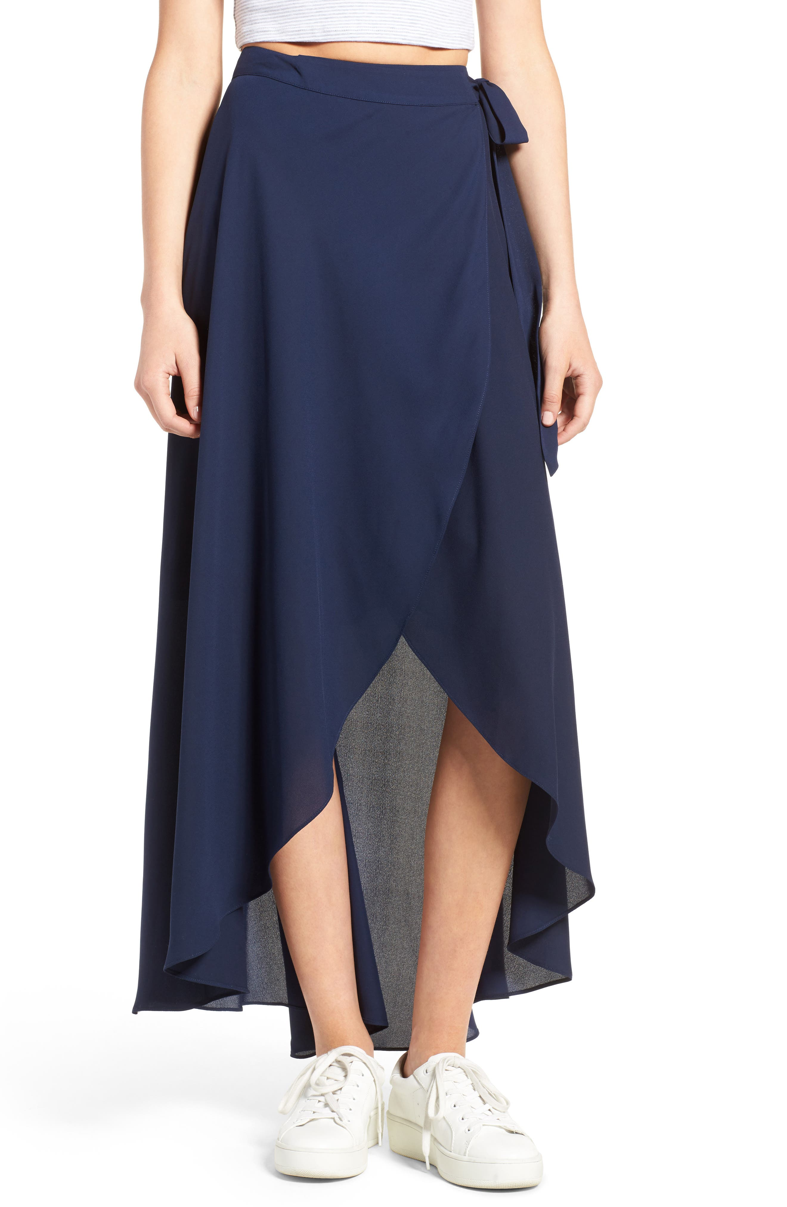 Main Image - Soprano High/Low Wrap Skirt
