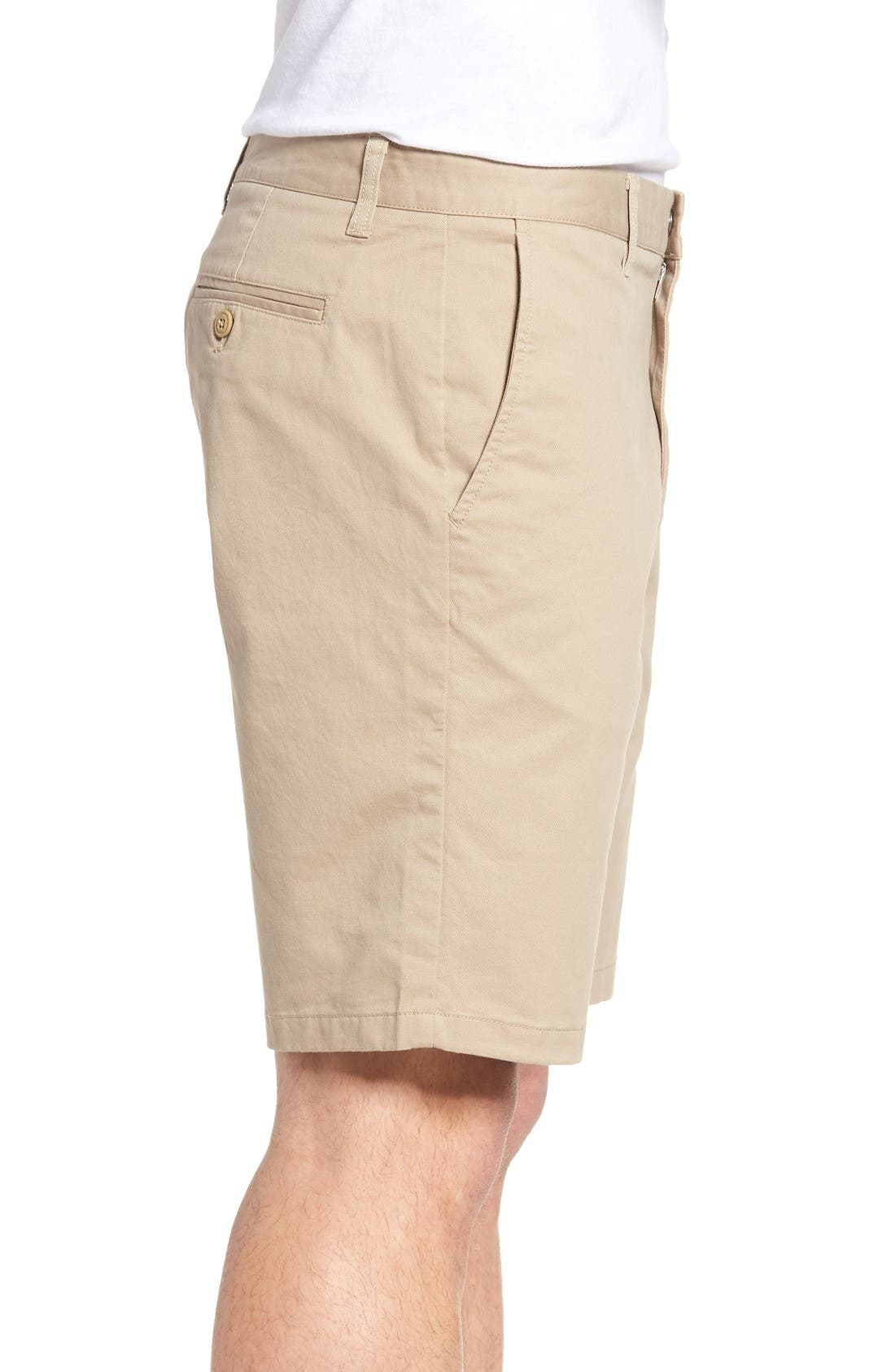 Stretch Washed Chino 9-Inch Shorts,                             Alternate thumbnail 3, color,                             True Khaki