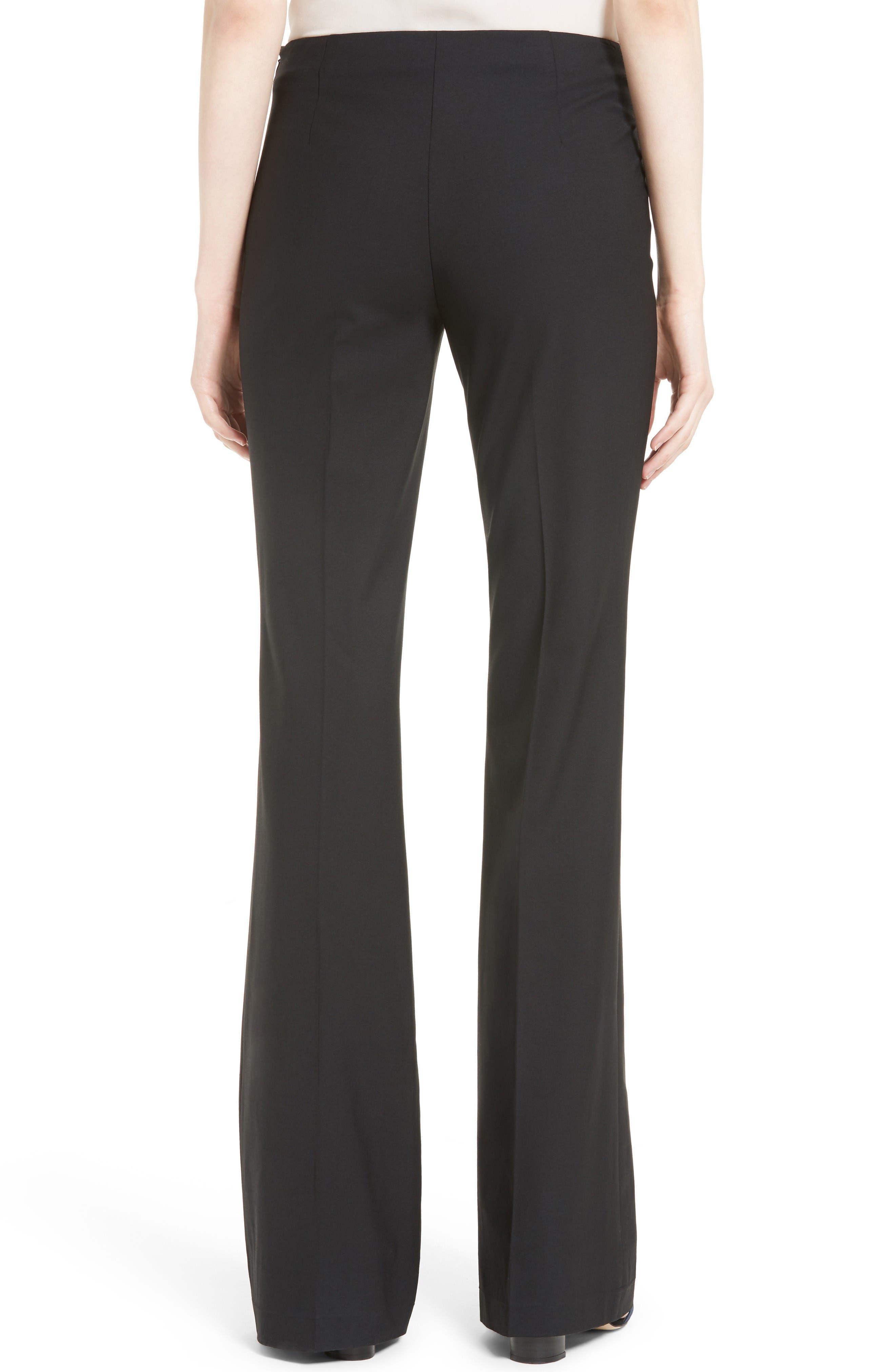 Demitria Flare Leg Good Wool Suit Pants,                             Alternate thumbnail 2, color,                             Black