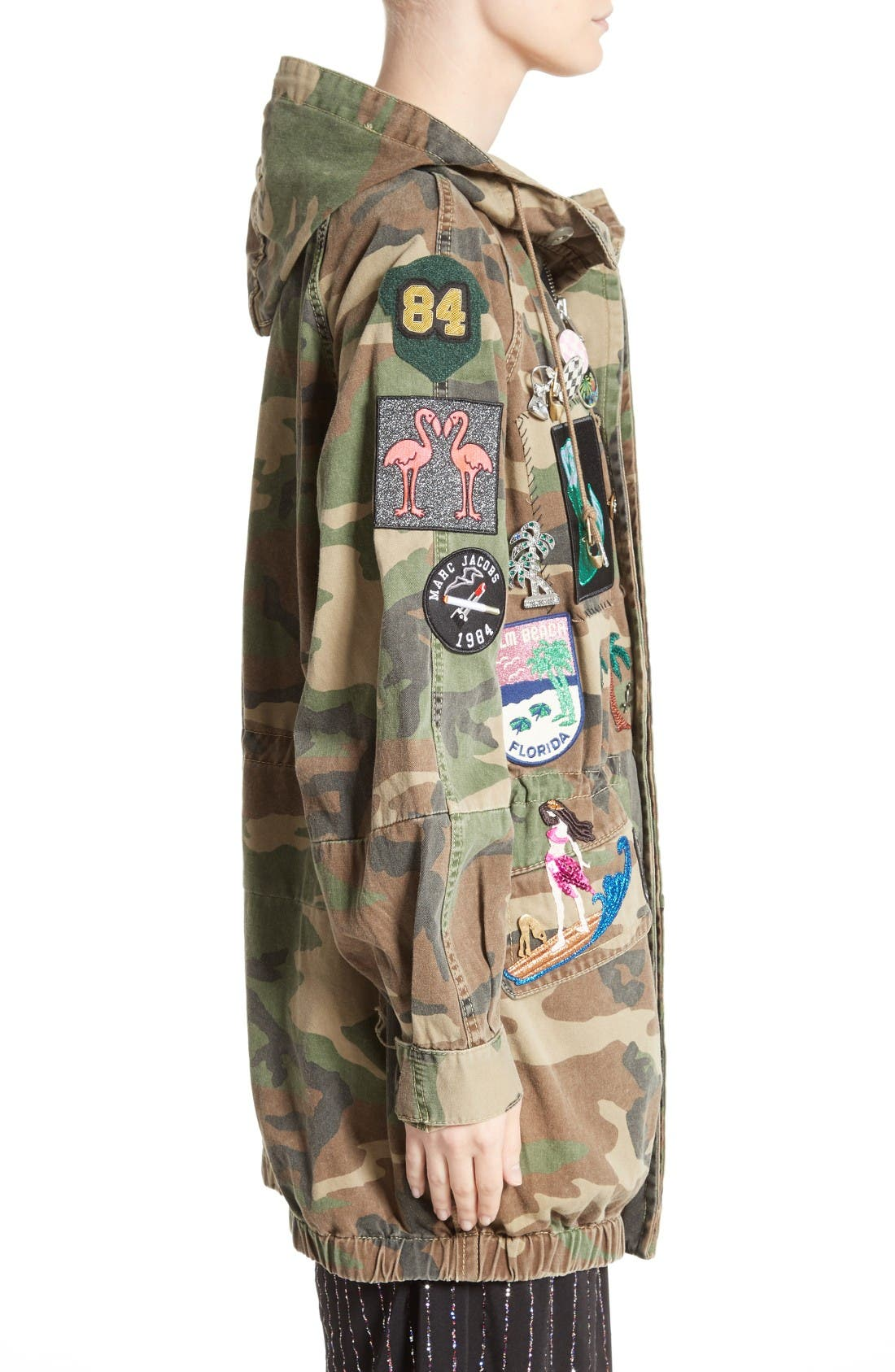 Alternate Image 4  - MARC JACOBS Camo Print Hooded Anorak