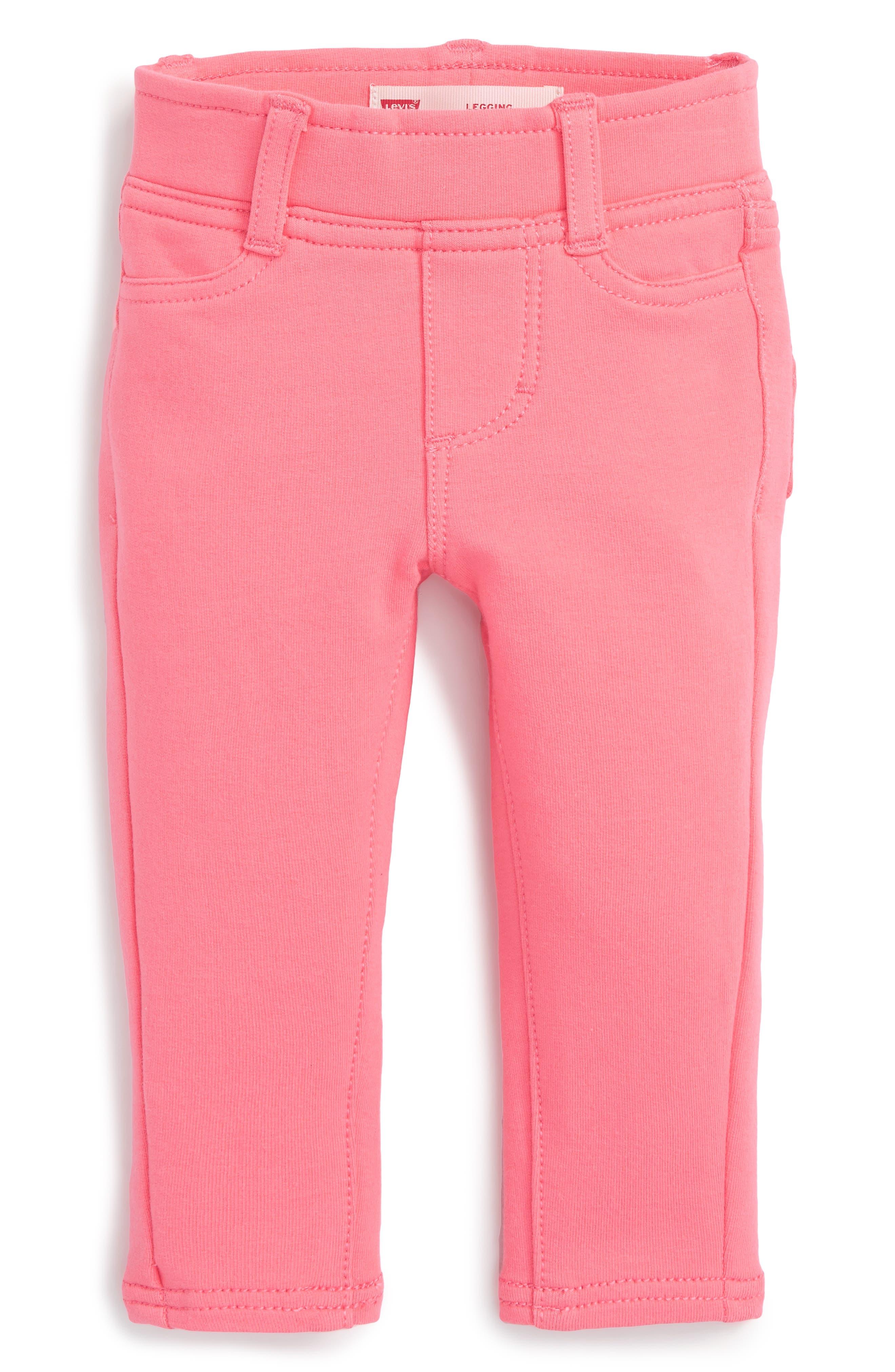 Haley May Leggings,                         Main,                         color, Strawberry Pink