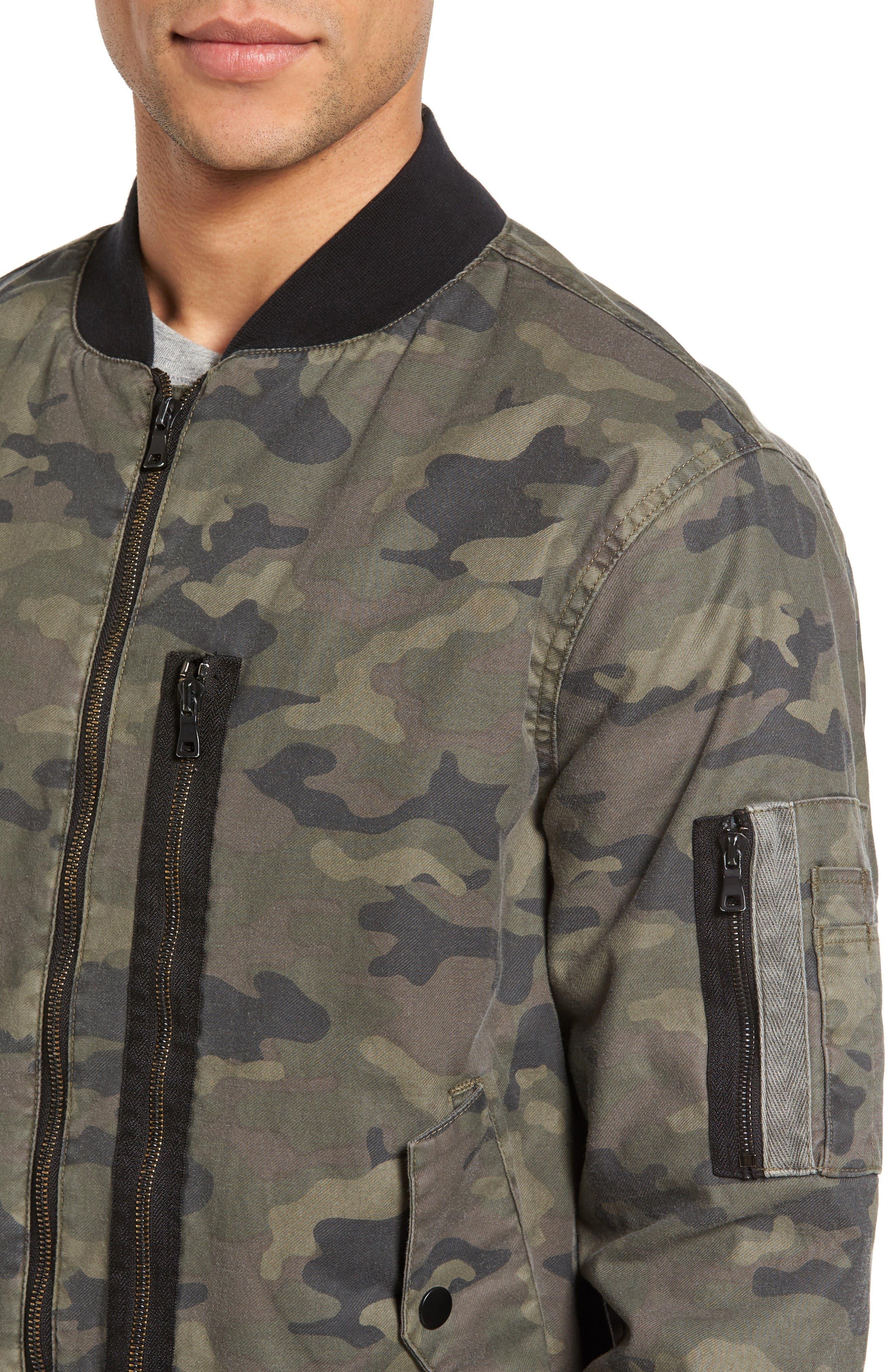 Knox Twill Bomber Jacket,                             Alternate thumbnail 4, color,                             Infantry Camo